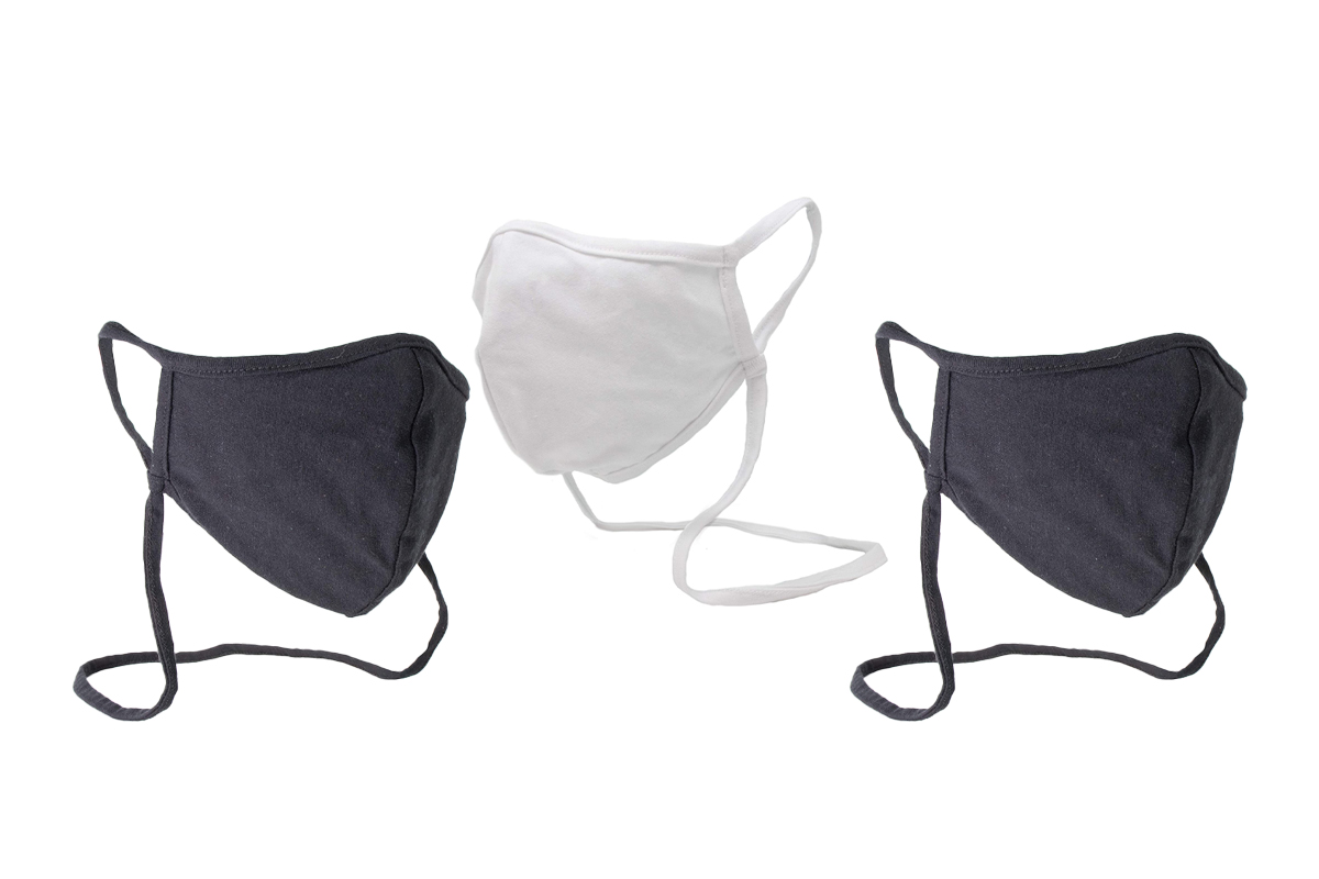Buttonsmith White Adult Cotton Adjustable Face Mask
