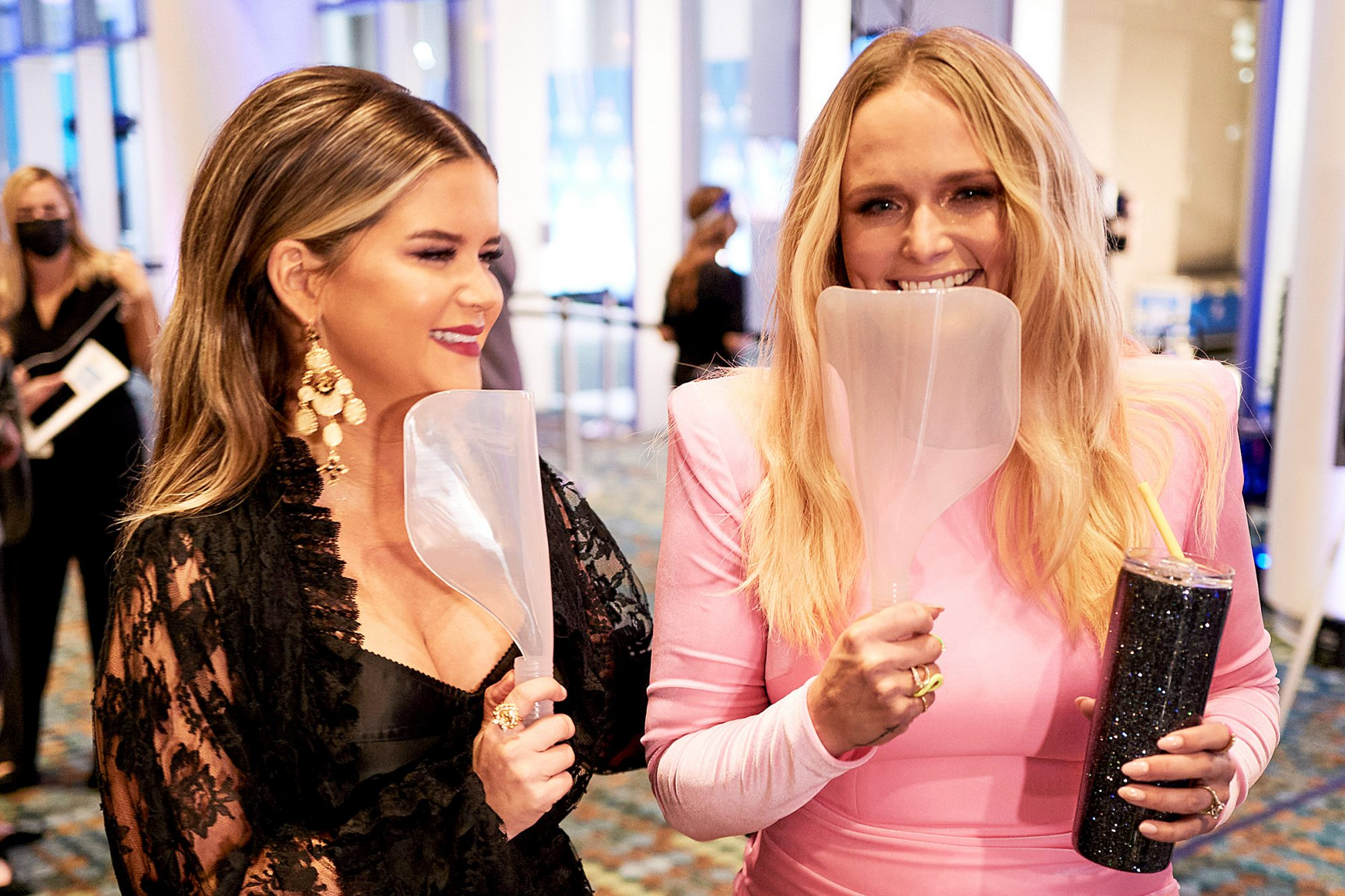 Maren Morris and Miranda Lambert attend the 54th Annual CMA Awards at Music City Center on November 11, 2020 in Nashville, Tennessee