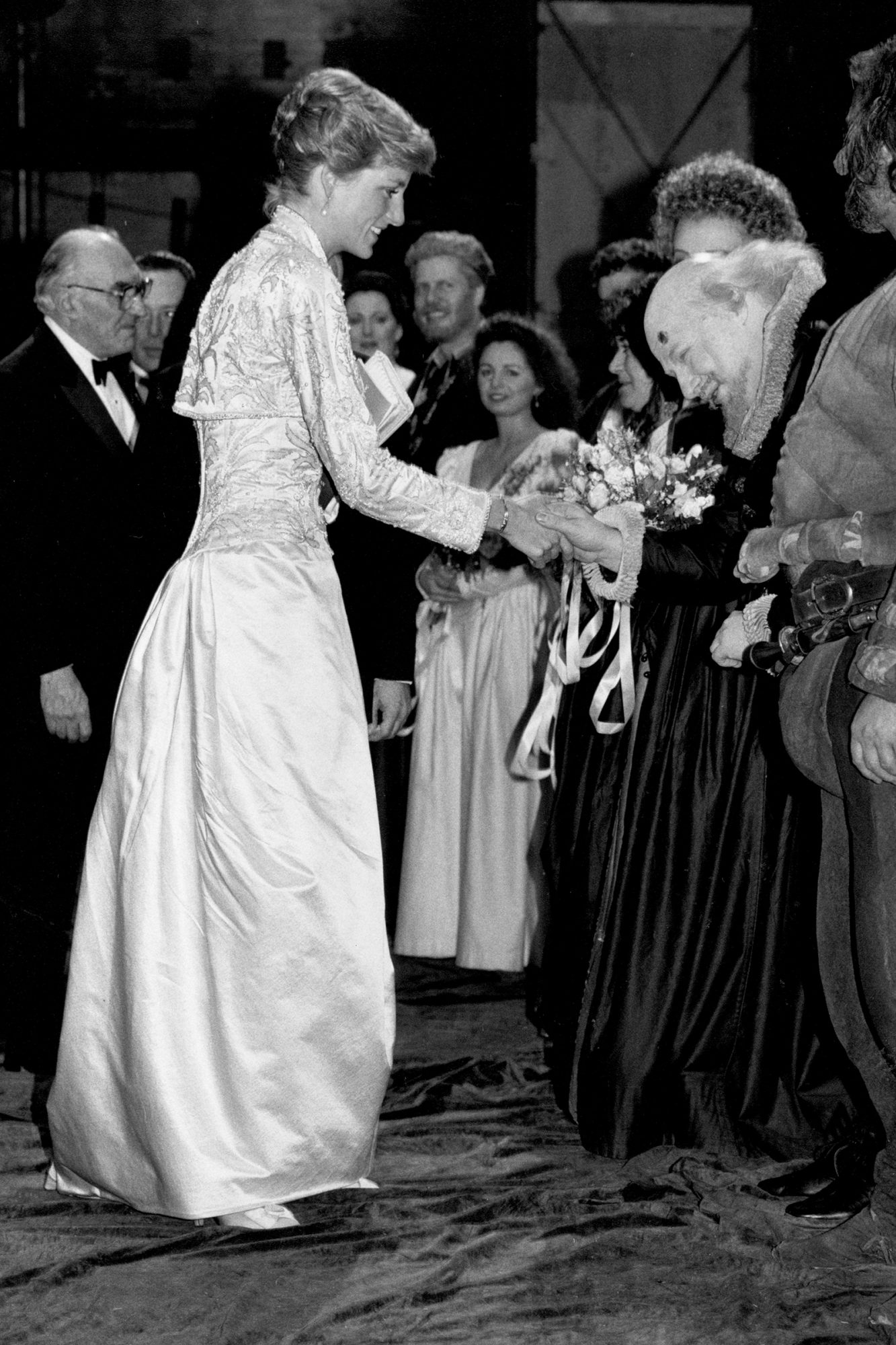 Princess Diana of Wales at New York City's Brooklyn Academy of Music