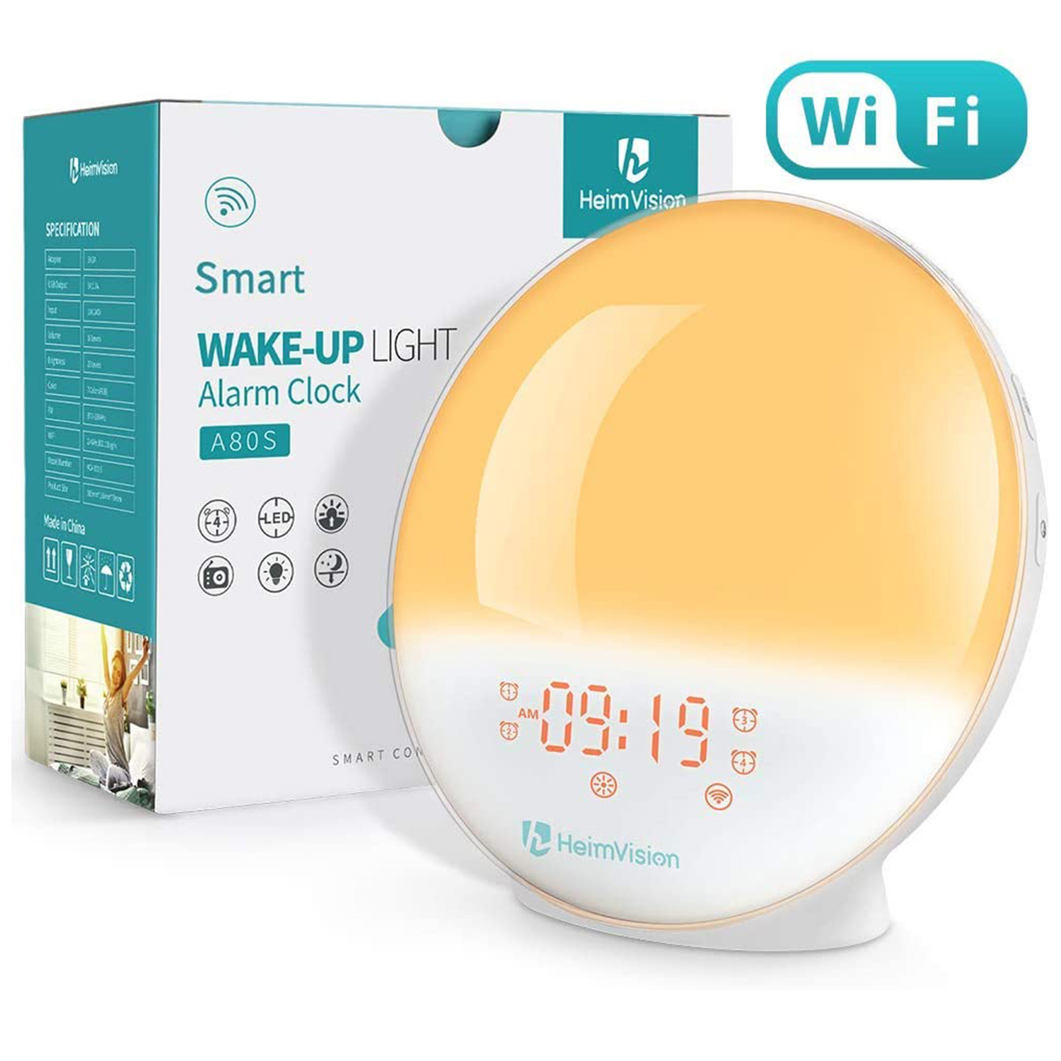 heimvision sunrise alarm clock smart wake up alexa
