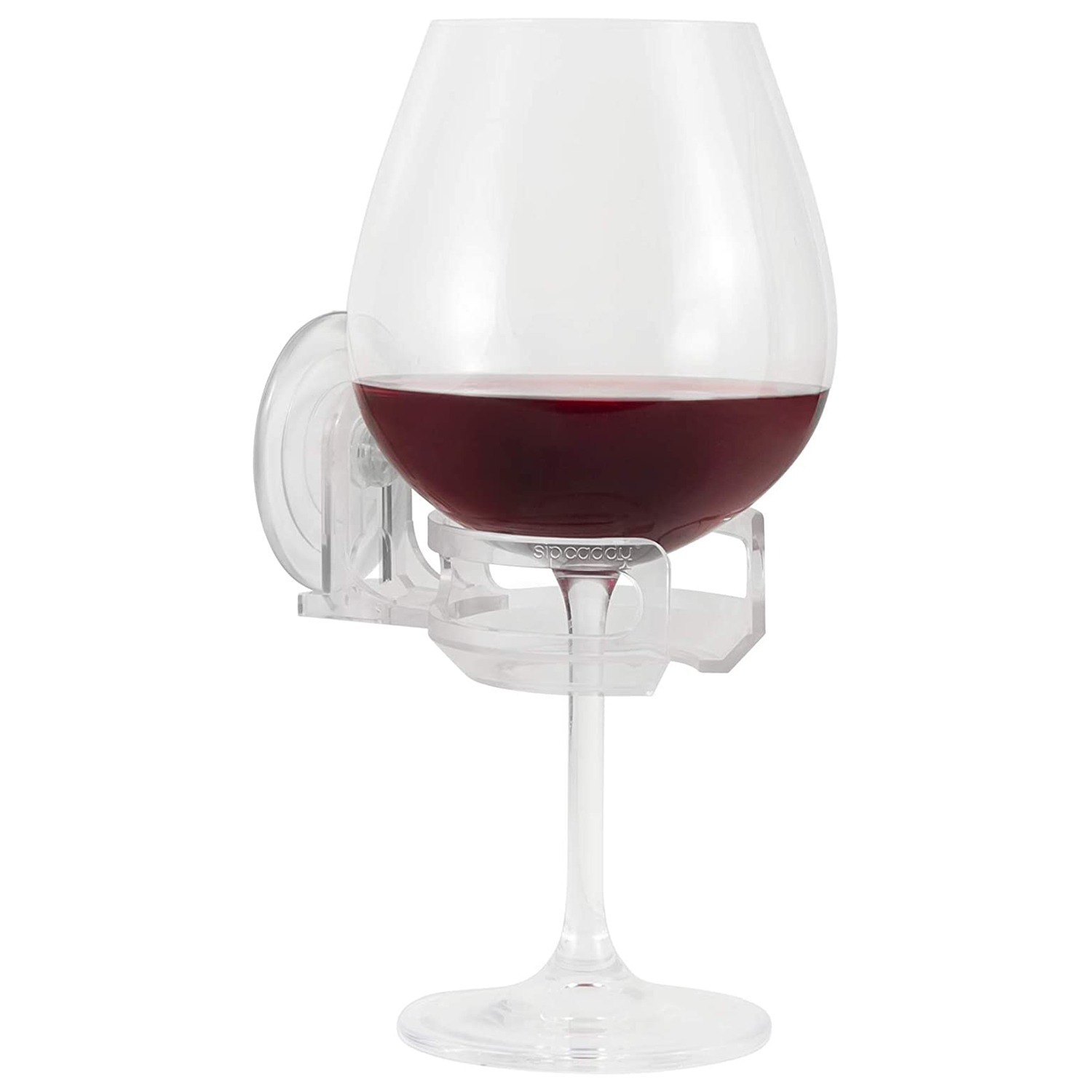 sipcaddy bath shower portable cupholder caddy beer wine