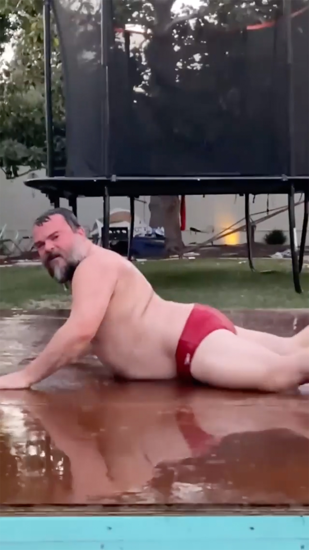 Jack Black Dances in Speedo to Megan Thee Stallion and Cardi B.'s 'WAP'