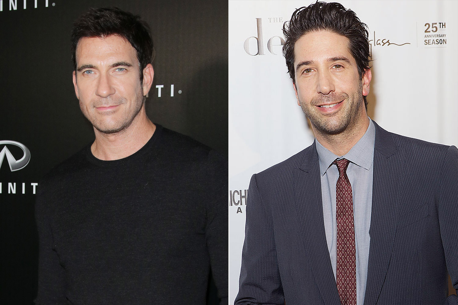 Dylan McDermott on the left, David Schwimmer on the right