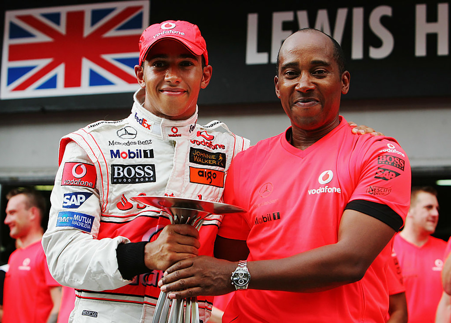 Lewis Hamilton and his father