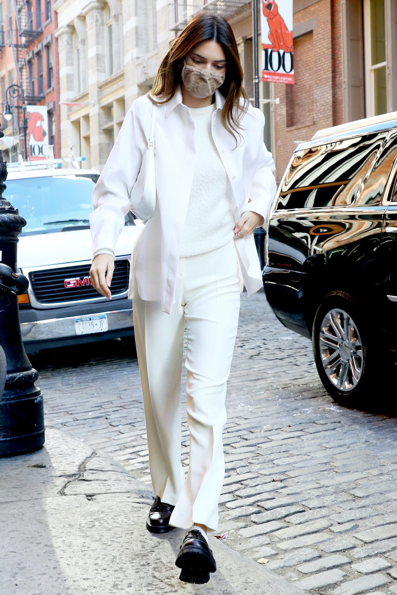 Kendall Jenner pictured out and about in Soho, Manhattan.