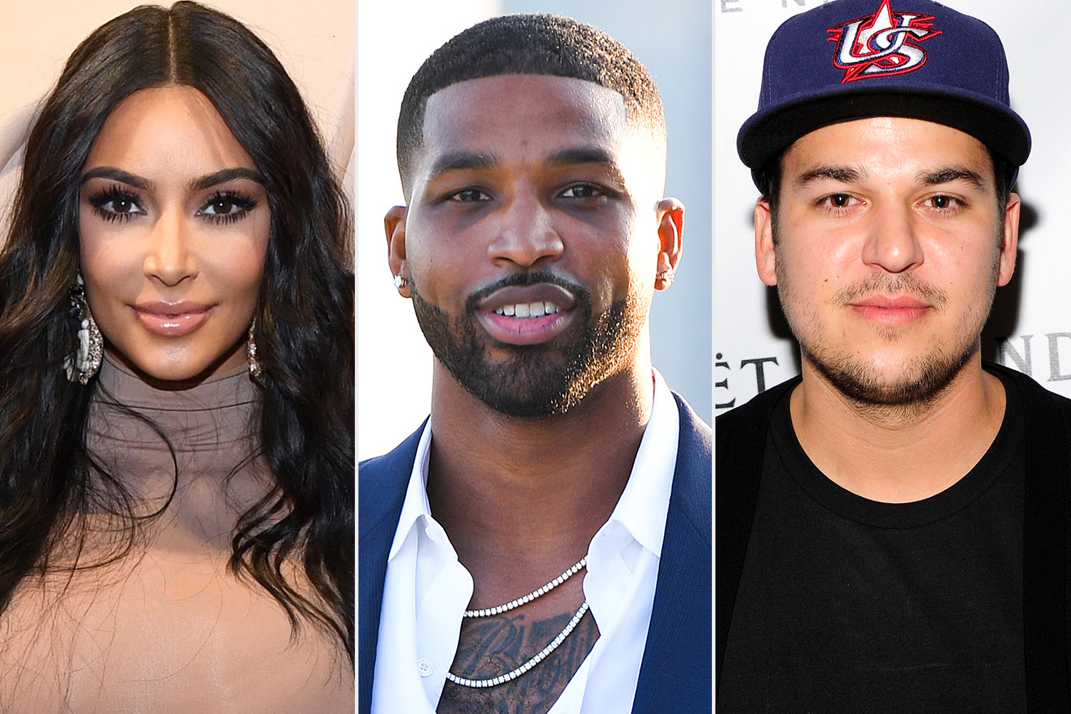 Kim Kardashian West; Tristan Thompson; Rob Kardashian