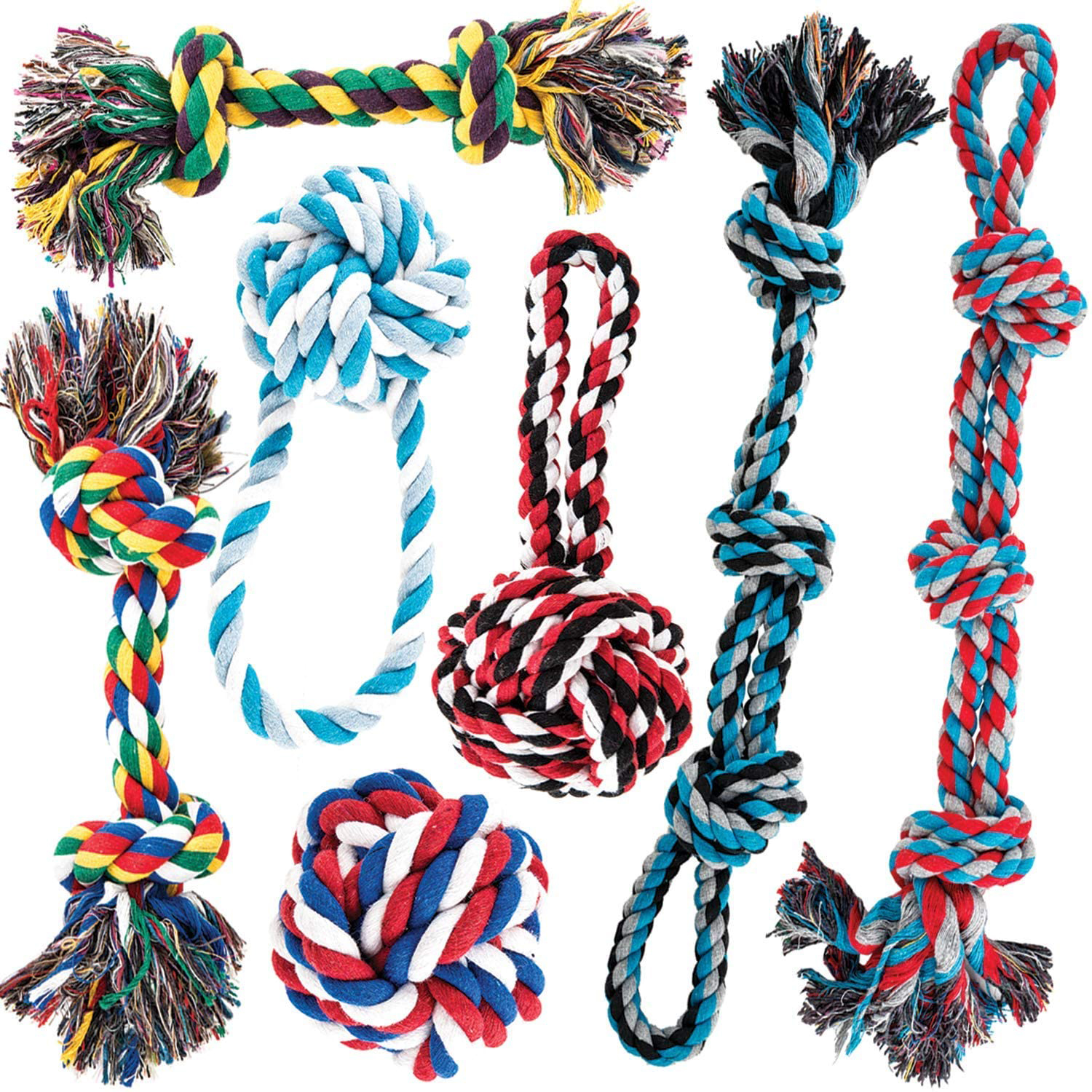 AMZpets Dog Rope Toys for Aggressive Chewers
