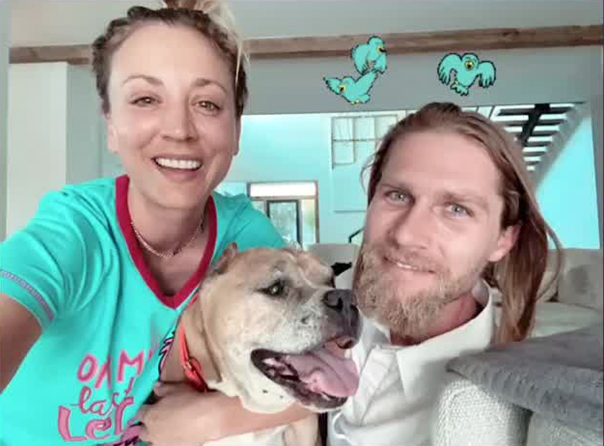Kaley Cuoco and Husband Karl Cook's Dog Petunia Dies | PEOPLE.com