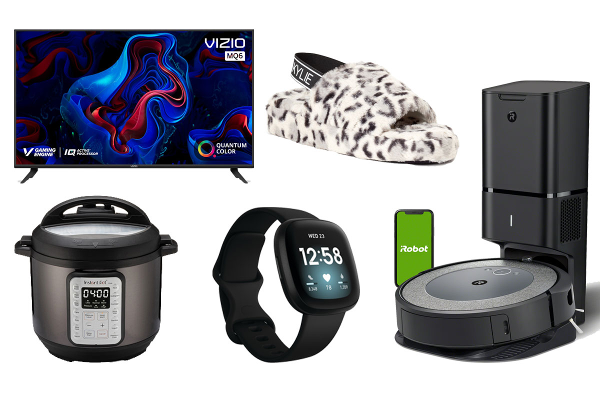 kendall and kylie slipper, instant pot, fit bit, roomba, vizio tv