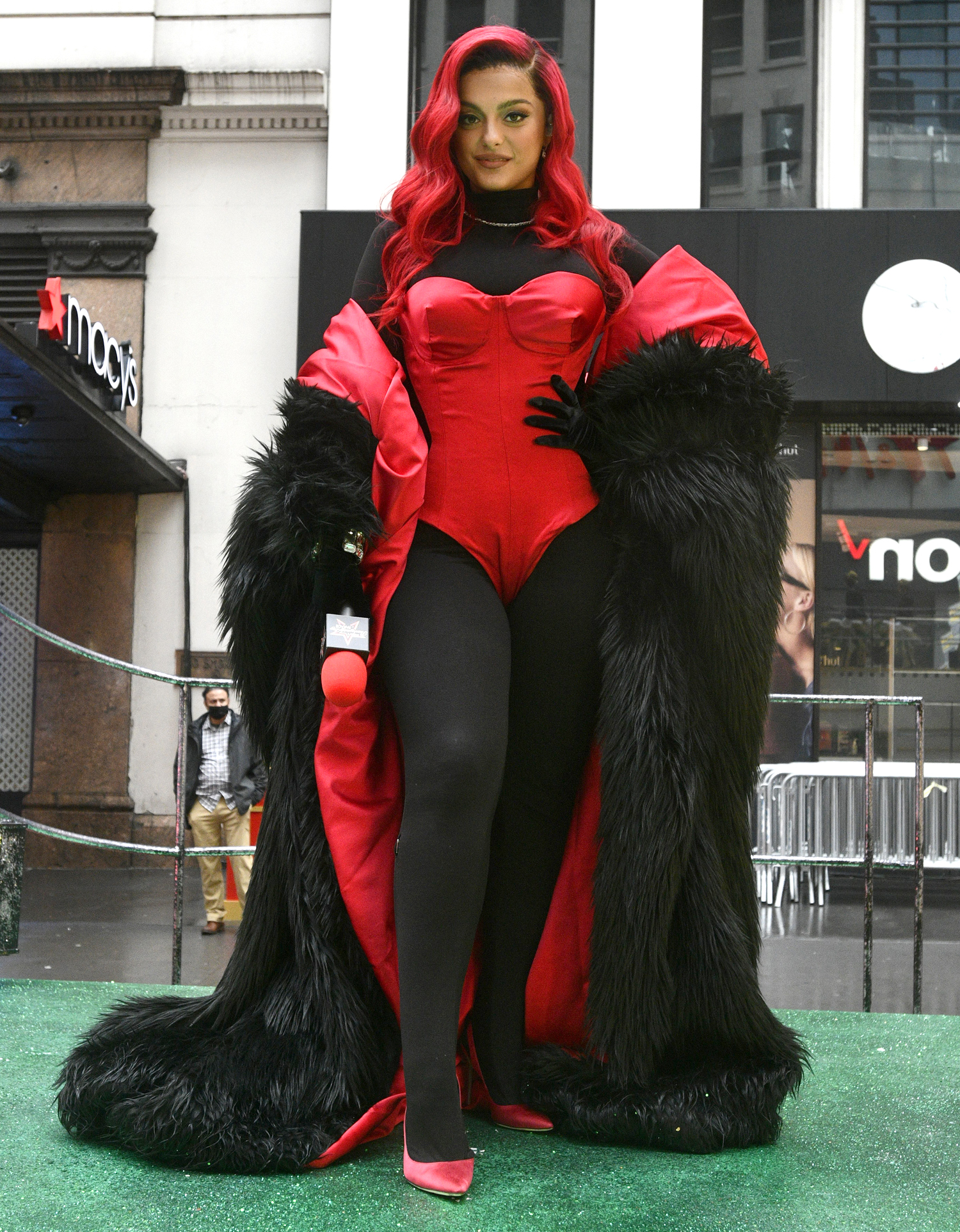 Bebe Rexha atop the Jennie-O float at the 94th Annual Macy's Thanksgiving Day Parade