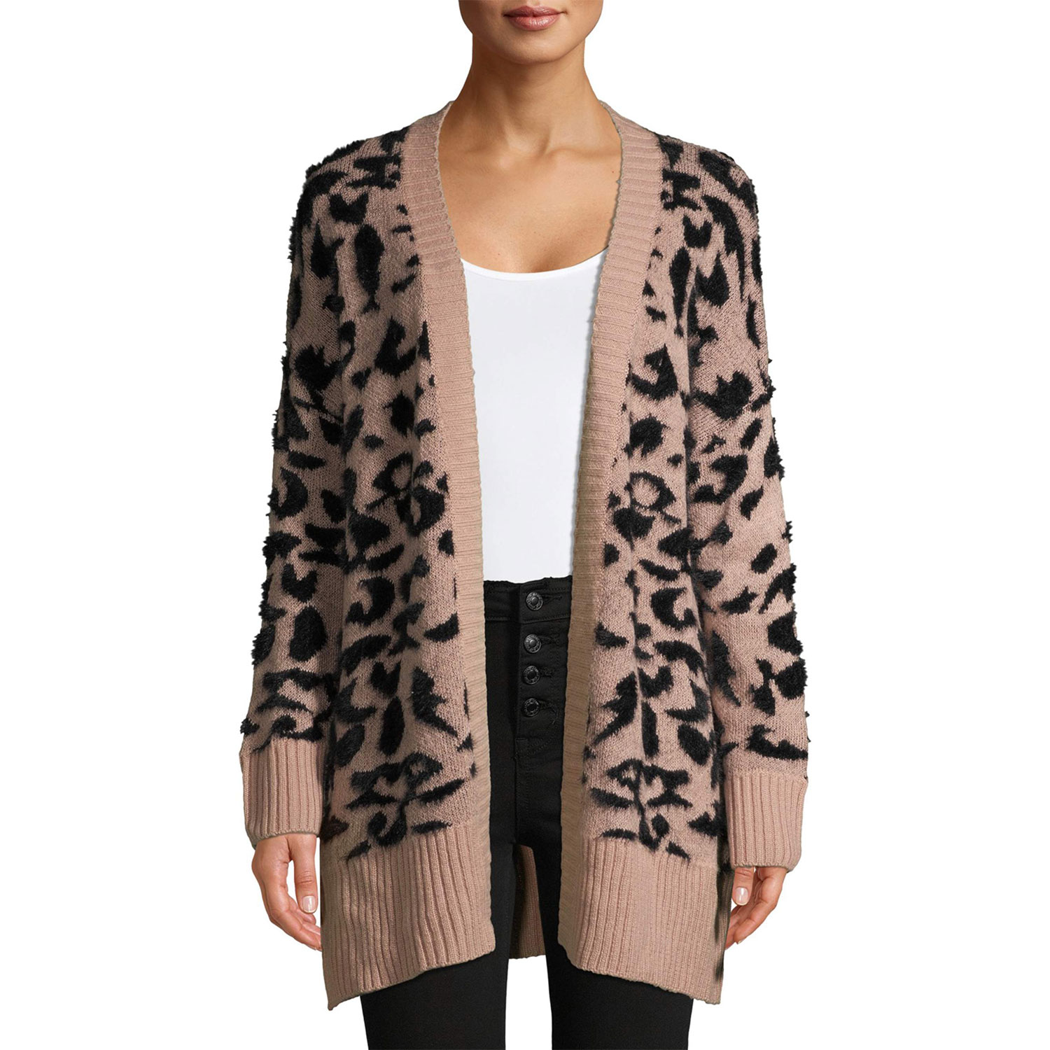 Dreamers by Debut - Dreamers by Debut Women's Leopard Print Cardigan