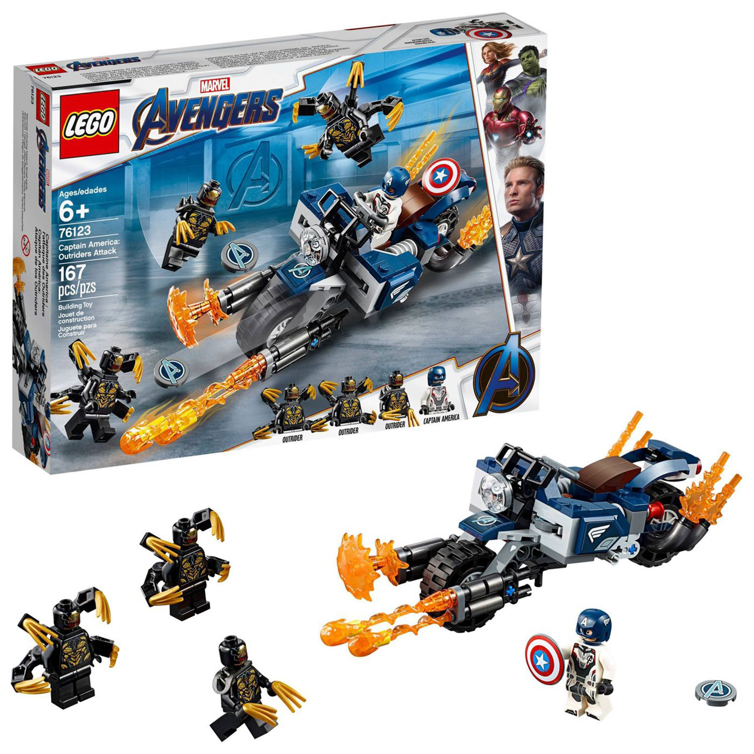 LEGO Super Heroes Marvel Avengers Movie 4 Captain America: Outriders Attack