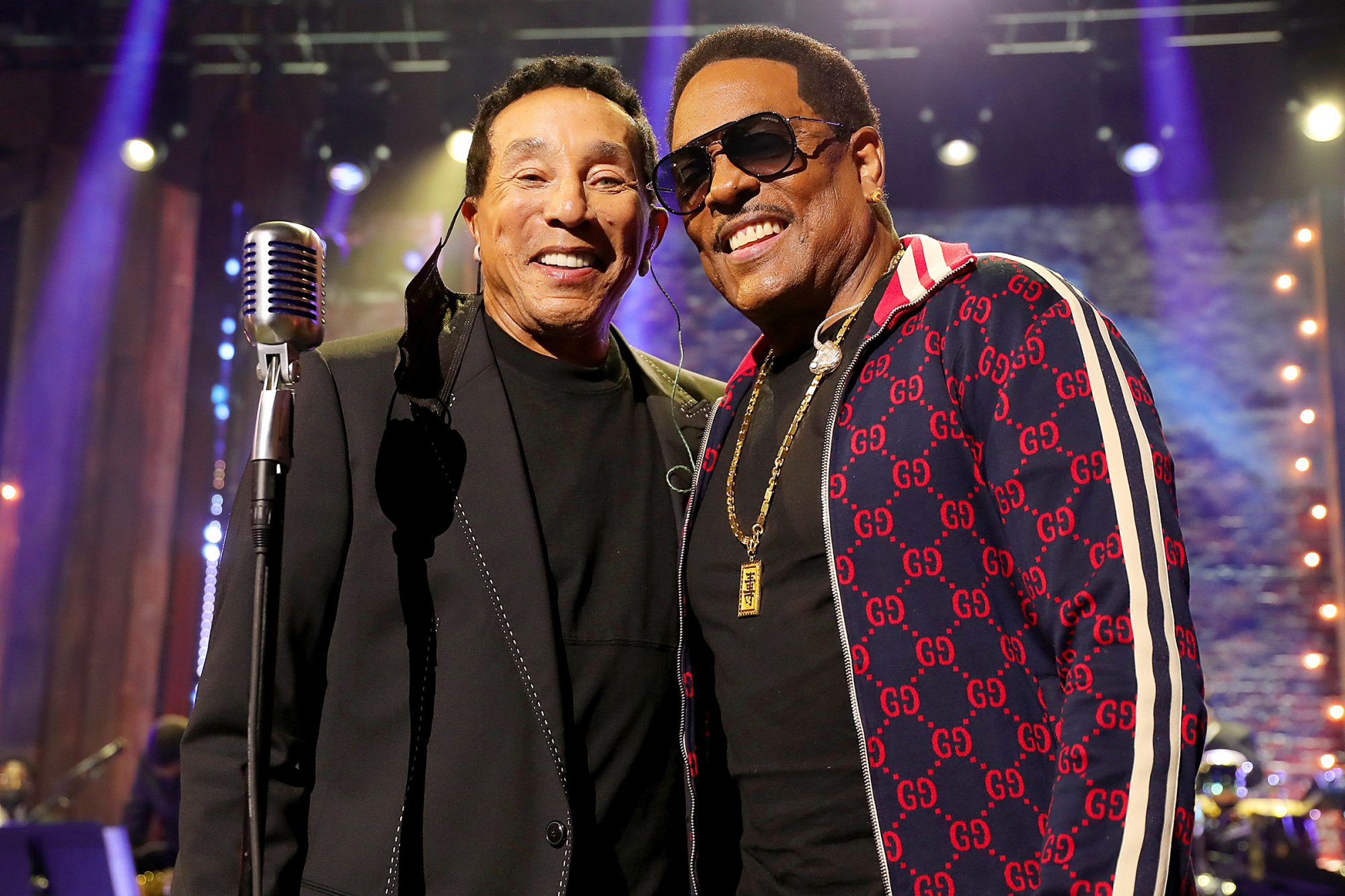Smokey Robinson and Charlie Wilson attend the 2020 Soul Train Awards presented by BET