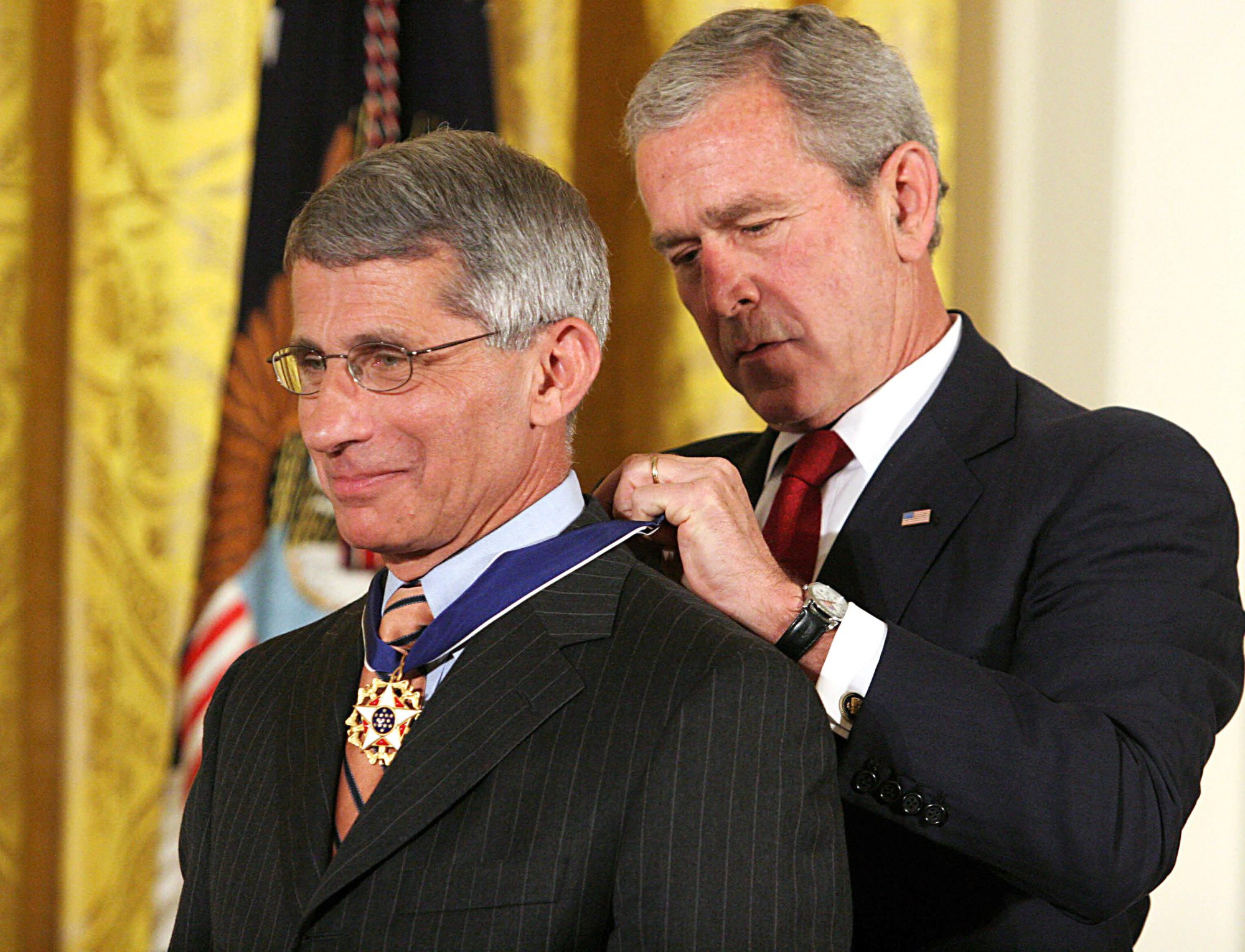 anthony fauci and george w. bush