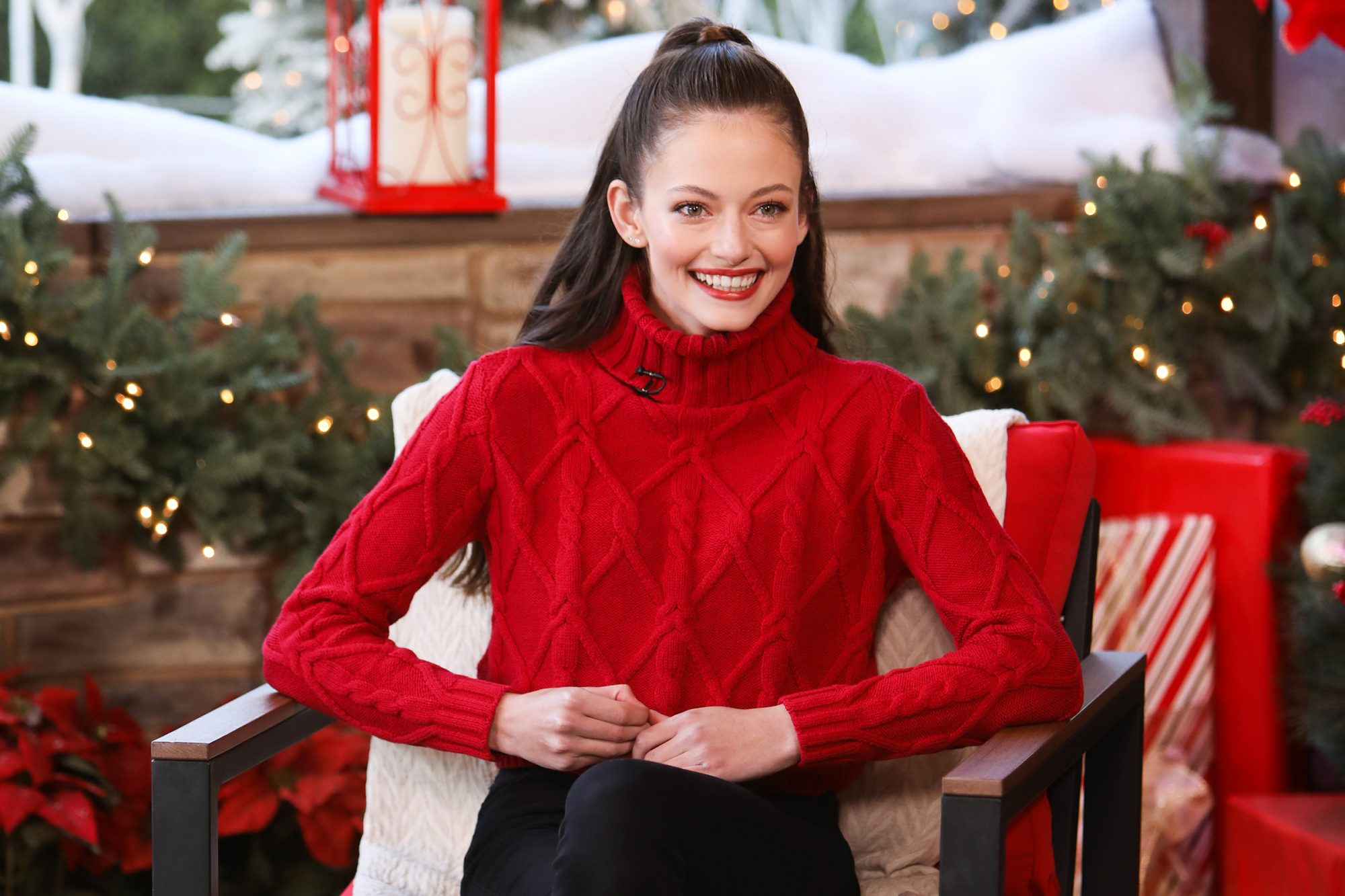 """Mackenzie Foy visits Hallmark Channel's """"Home & Family"""" at Universal Studios Hollywood on November 30, 2020 in Universal City, California"""