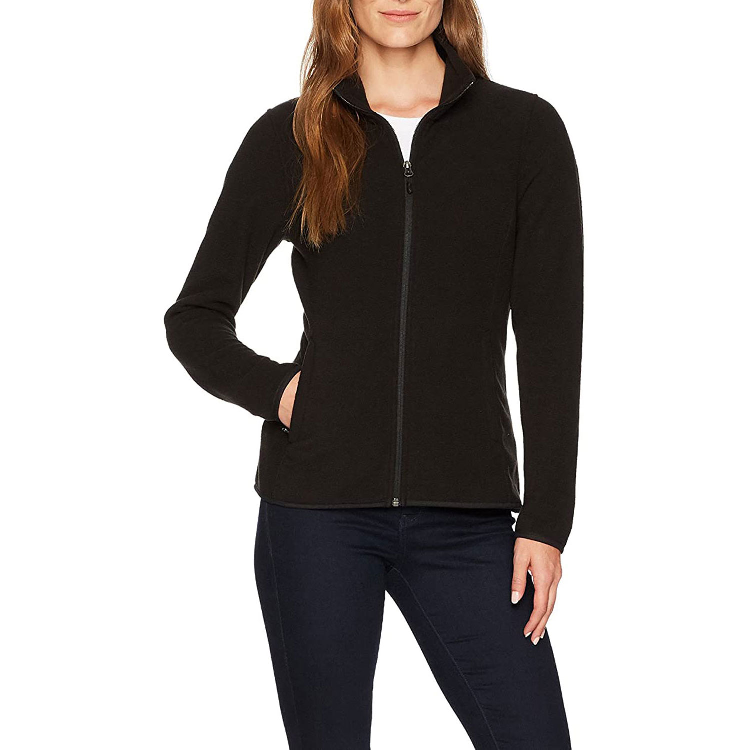 Amazon Essentials Women's Classic Fit Long-Sleeve Full-Zip Polar Soft Fleece Jacket: Clothing