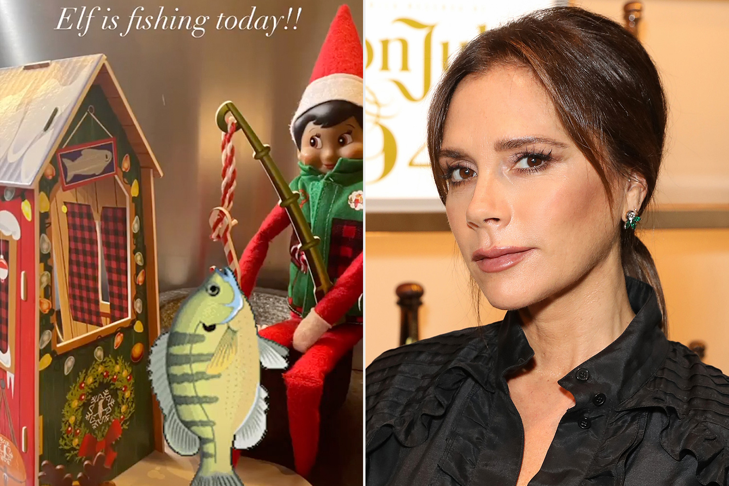 Victoria Beckham elf on the shelf