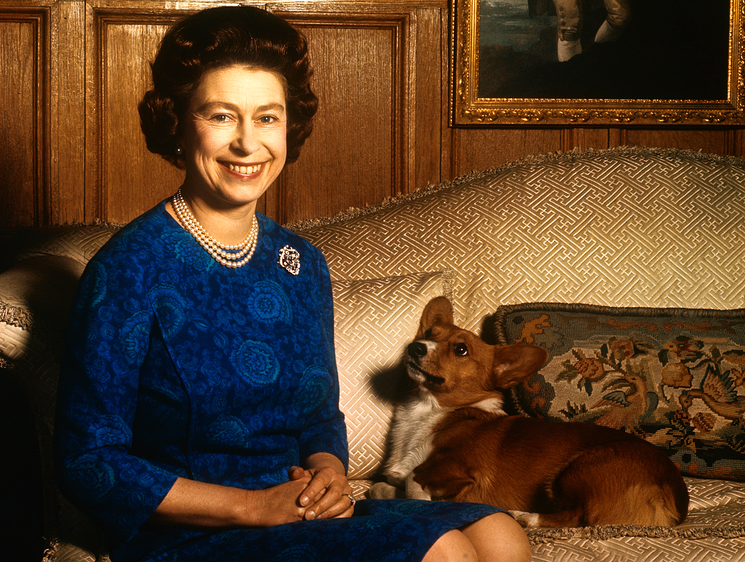Queen Elizabeth II with Corgi