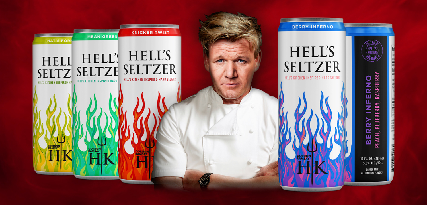 Gordon Ramsay Spiked Seltzers