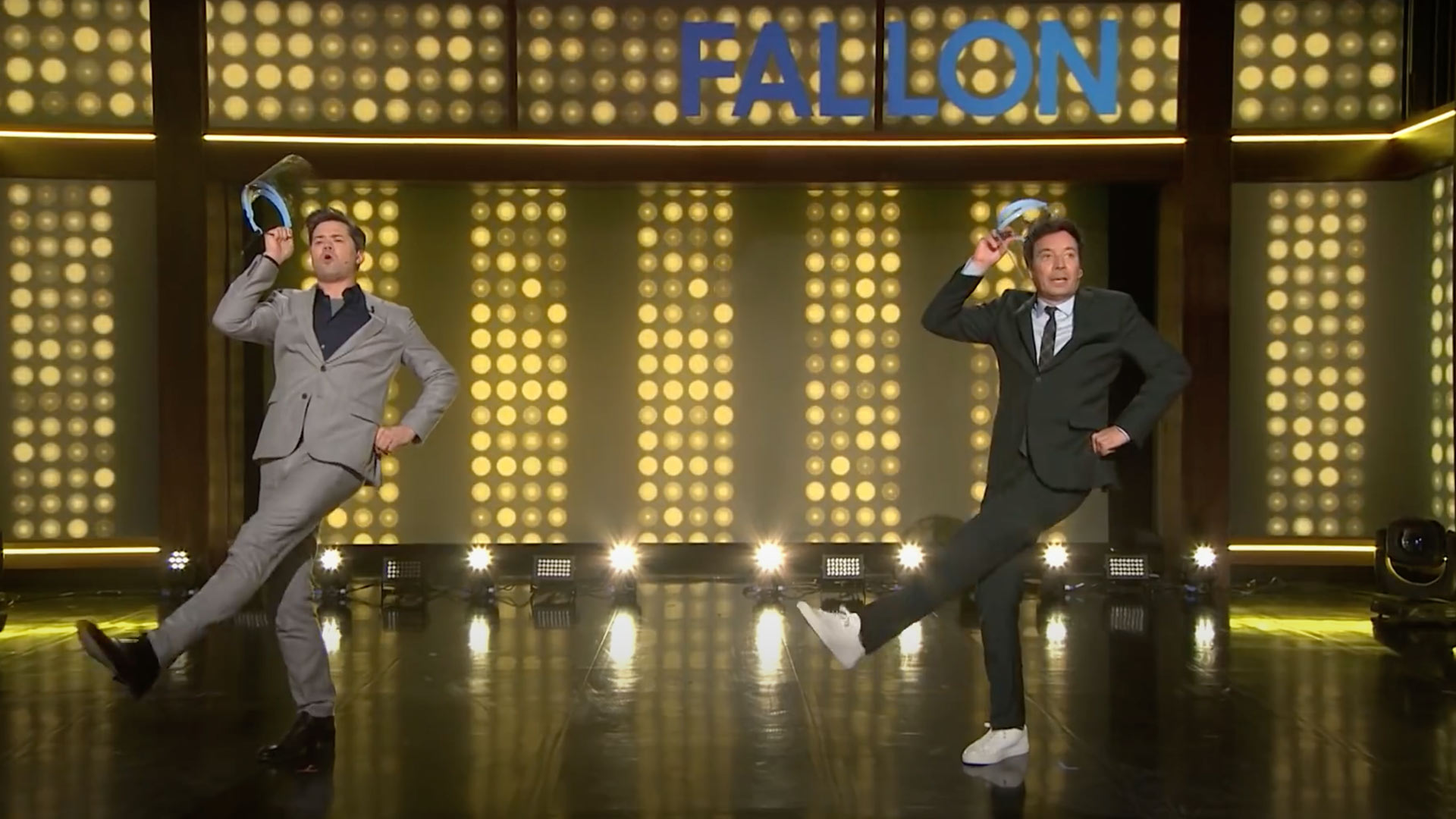 Andrew rannells and jimmy Fallon