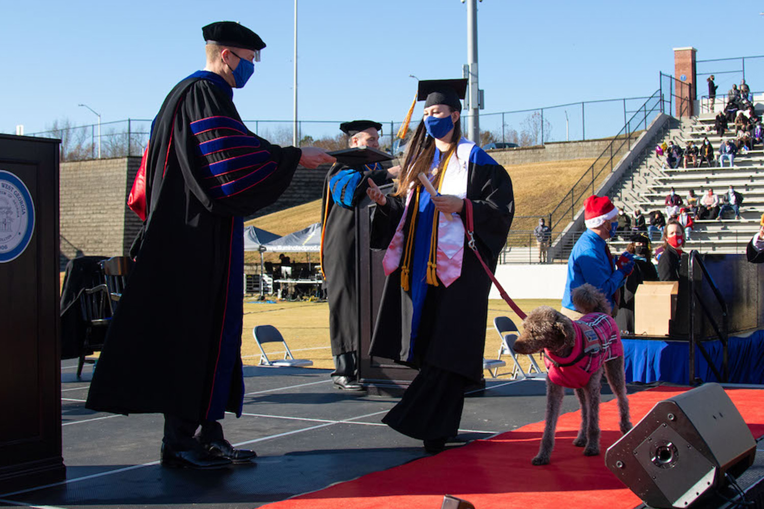 Maggie and Mona Leptrone, Service Dog Graduates with Owner