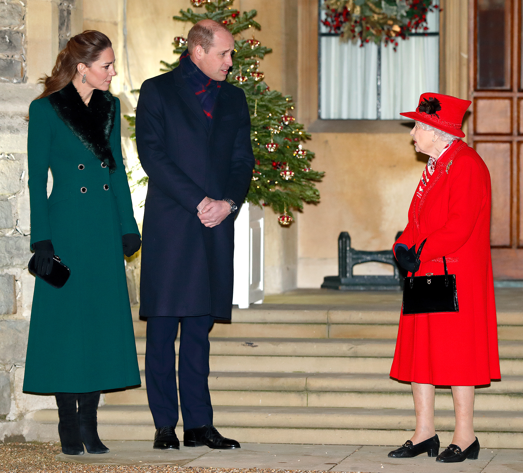 Catherine, Duchess of Cambridge, Prince William, Duke of Cambridge and Queen Elizabeth II