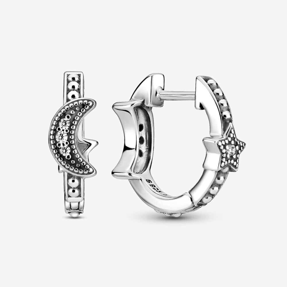 These crescent moon and star hoops will add the perfect amount of out-of-this-world sparkle to your everyday outfits.                                       Buy It!Pandora, $60; pandora.com