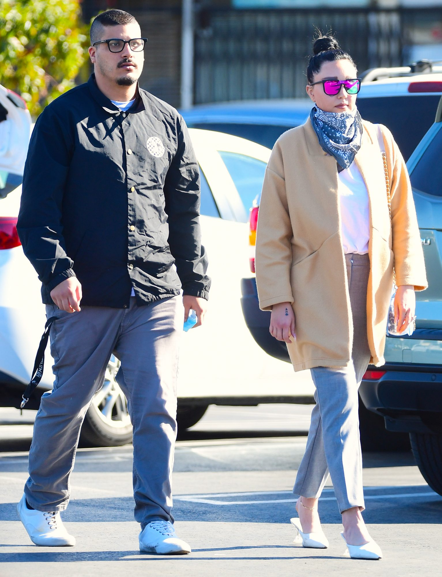 Amanda Bynes Sports New Chic Look As She Steps Out For Grocery Run with Fiancé Paul Michael.