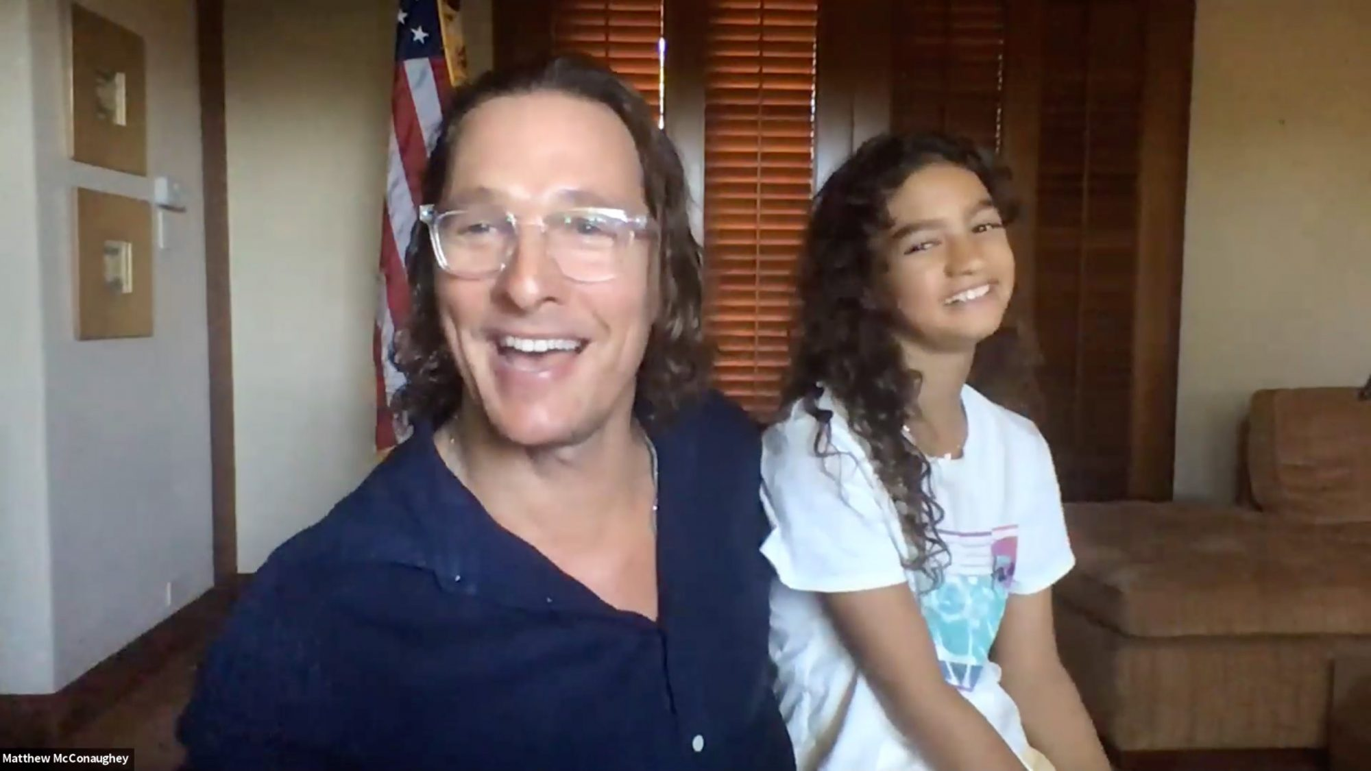 Matthew McConaughey's Daughter Vida, 10, Adorably Jumps in on His Interview and Dishes on Dad