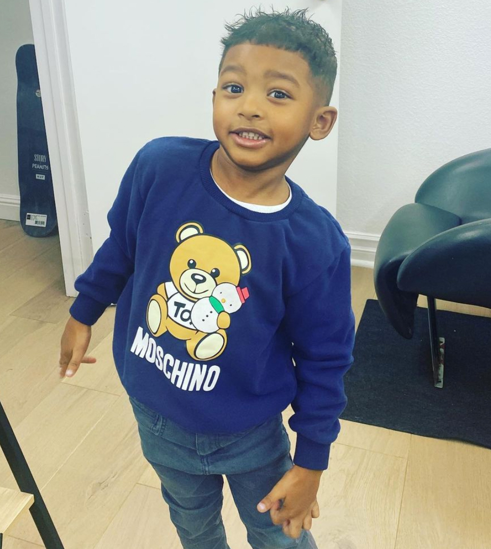 Tristan Thompson and son