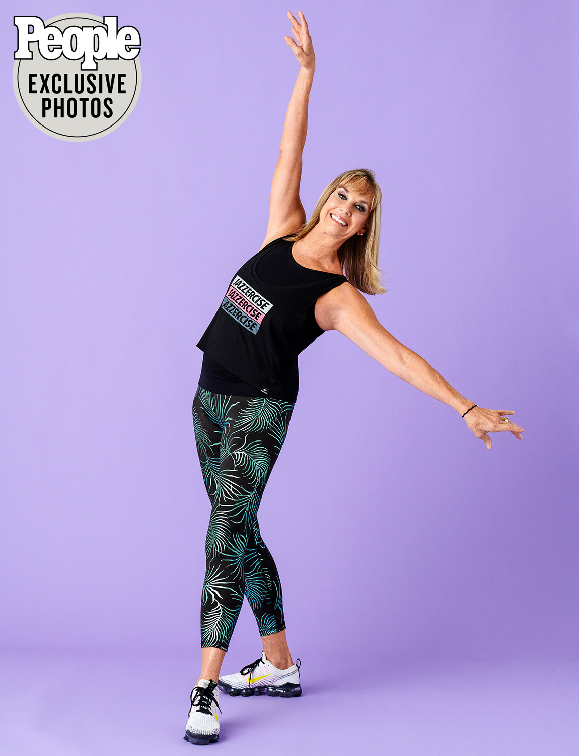 Judi Sheppard Missett, Shanna and Skyla Nelson Jazzercise family shot in their studio in Carlsbad, CA on 10/23/2020