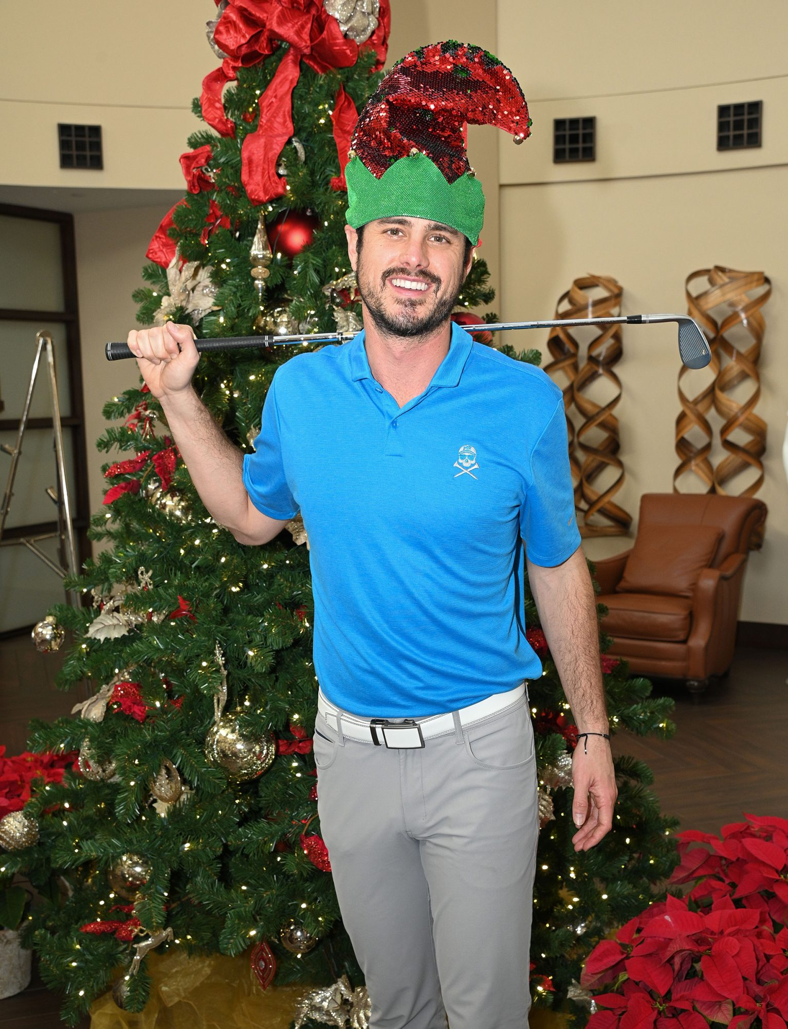 Ben Higgins at an event for the Tournament of Champion Dimond Resorts in Lake Buena Vista, Florida on Dec. 15, 2020