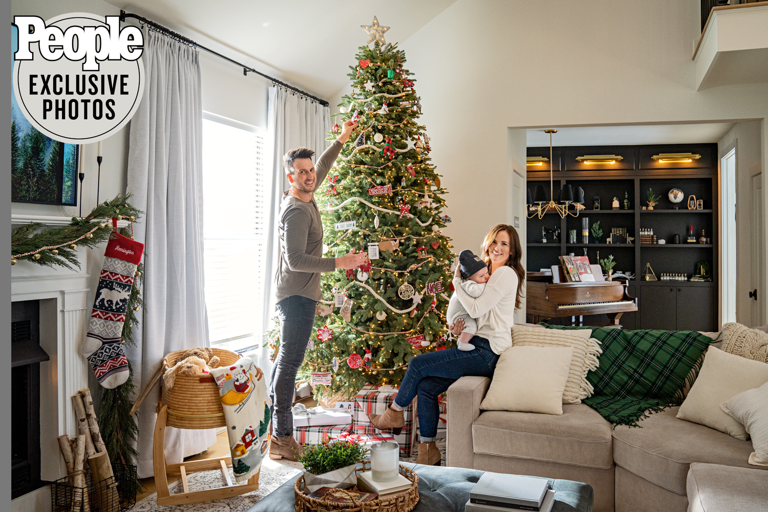 Russell Dickerson , wife Kailey and baby at home in Brentwood, TN