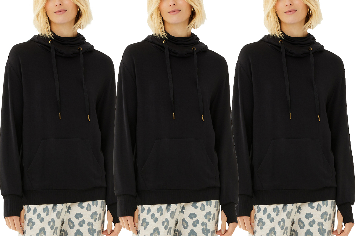Scoop Women's Hoodie with Built-In Face Covering