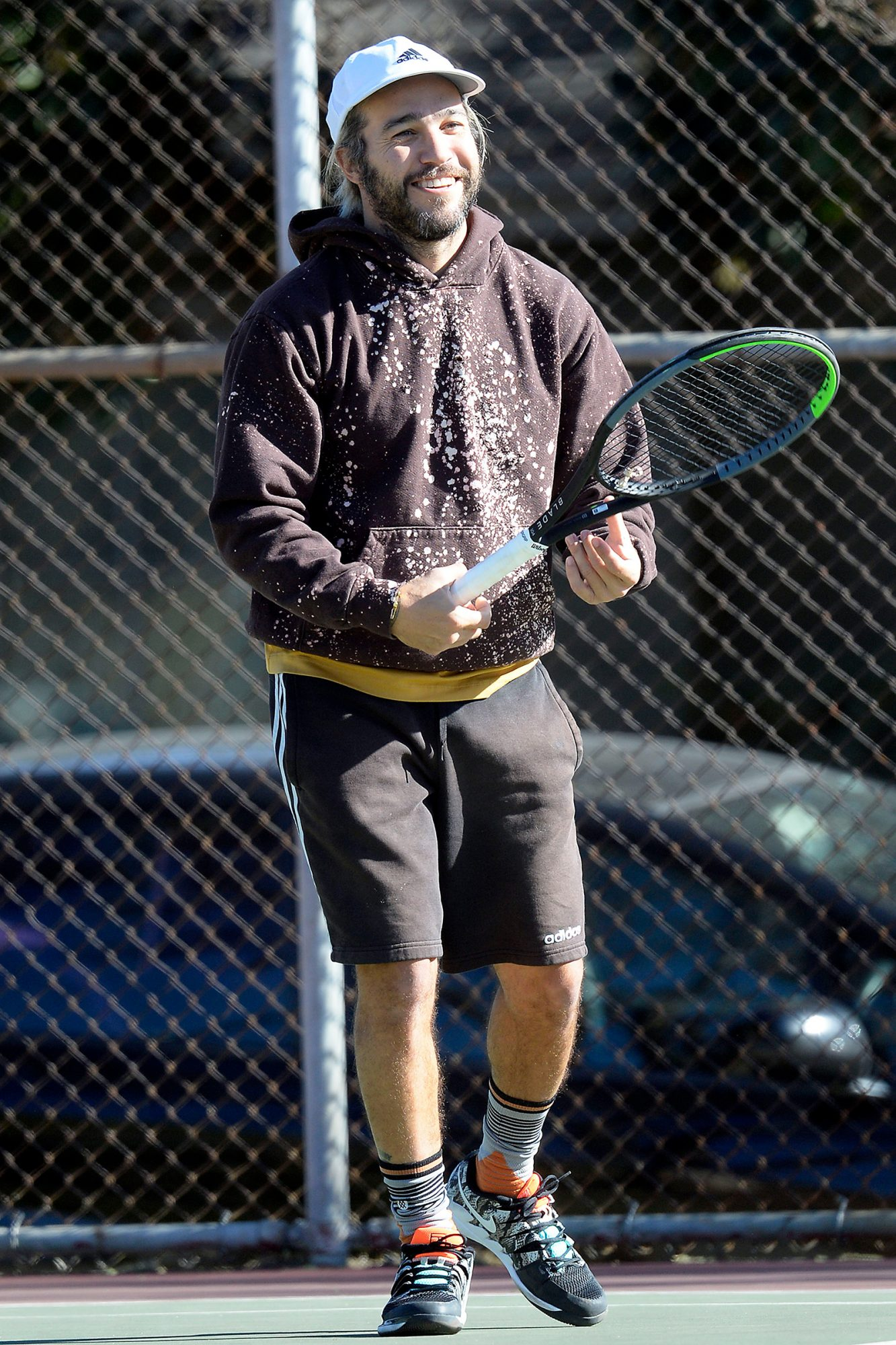 Pete Wentz plays tennis in Hollywood during new Covid lockdown order in L.A.