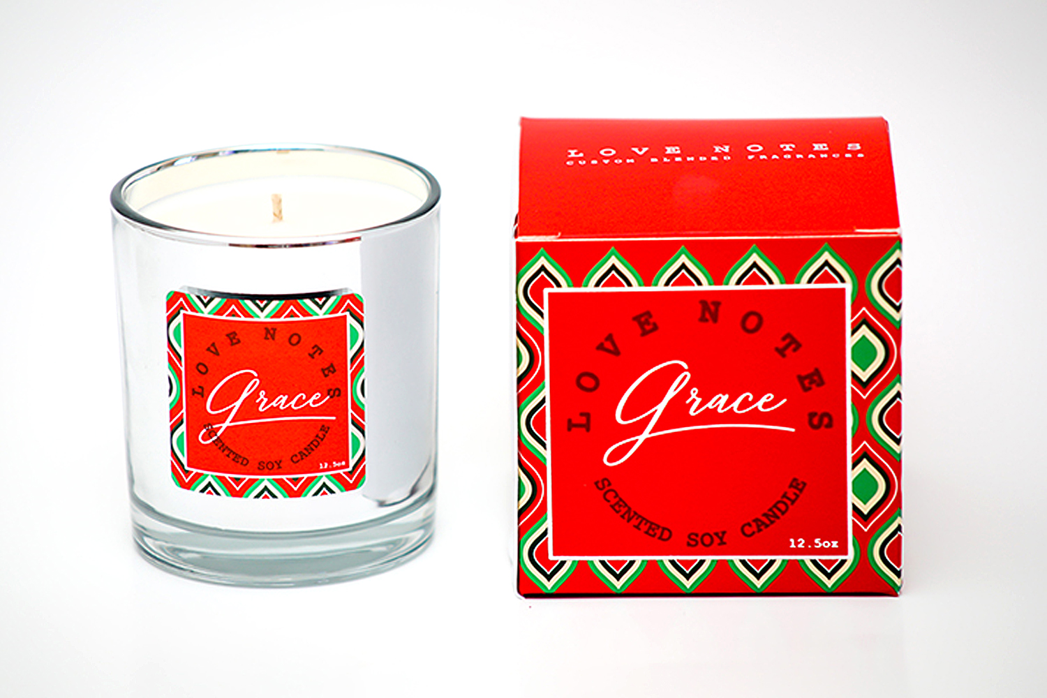 Grace – Chrome Glass Candle