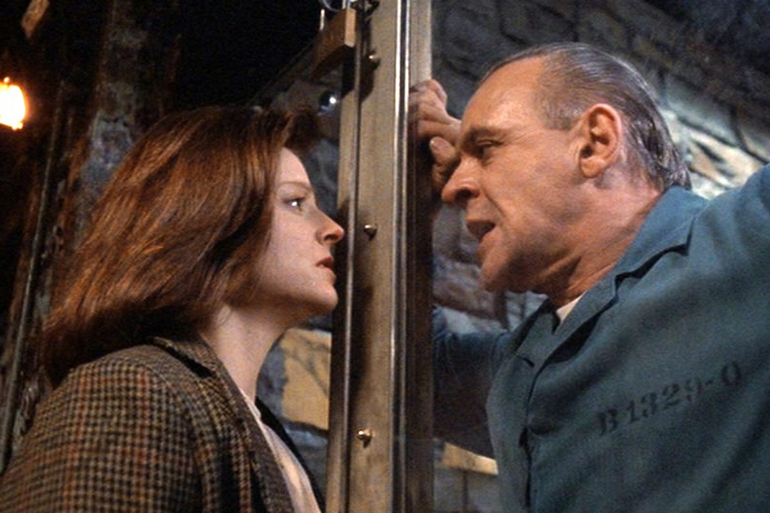 Jodie Foster and Anthony Hopkins