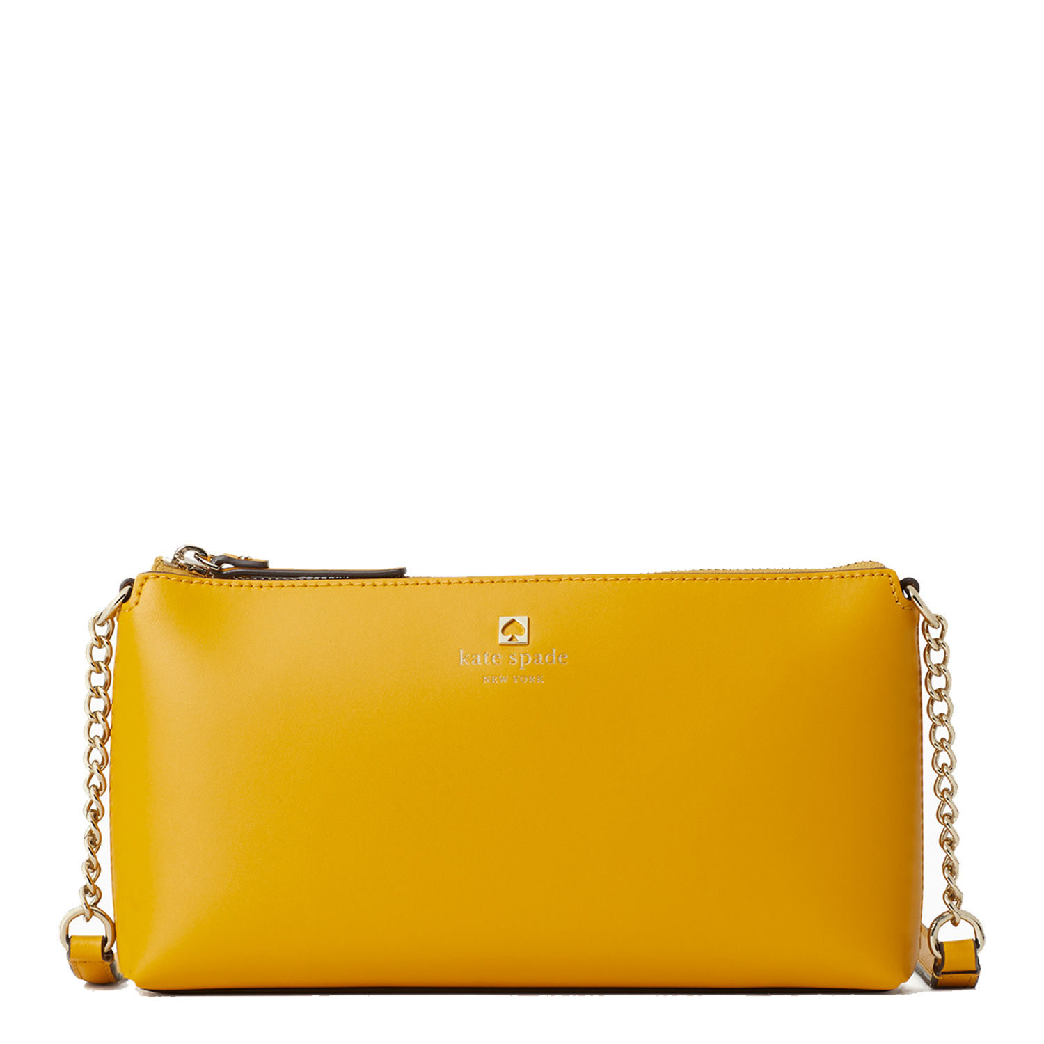 yellow shoulder bag with chain strap