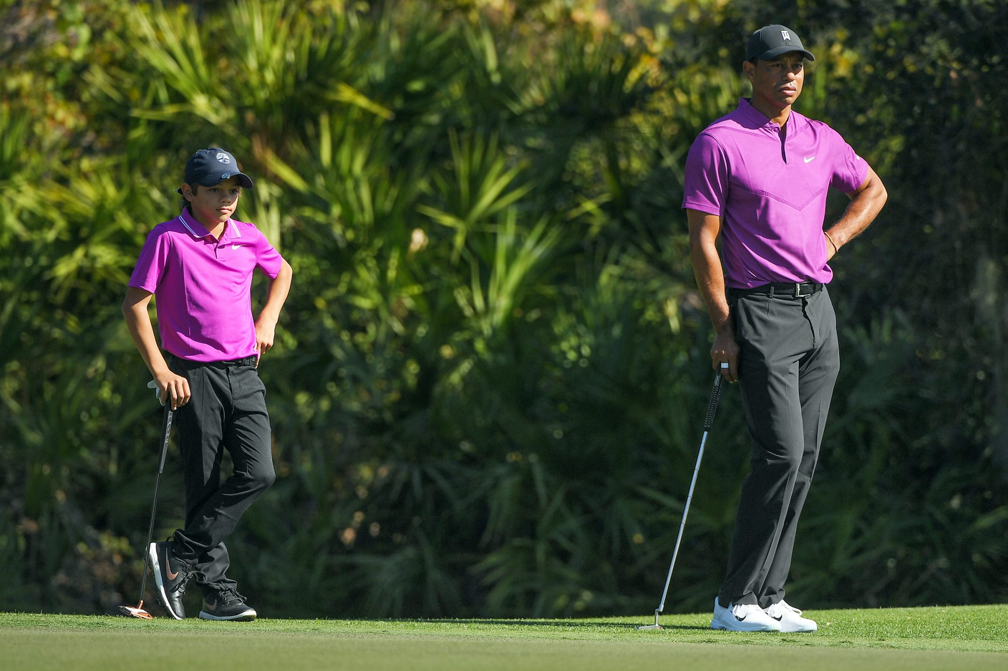 Tiger Woods and son Charlie at PNC Championship
