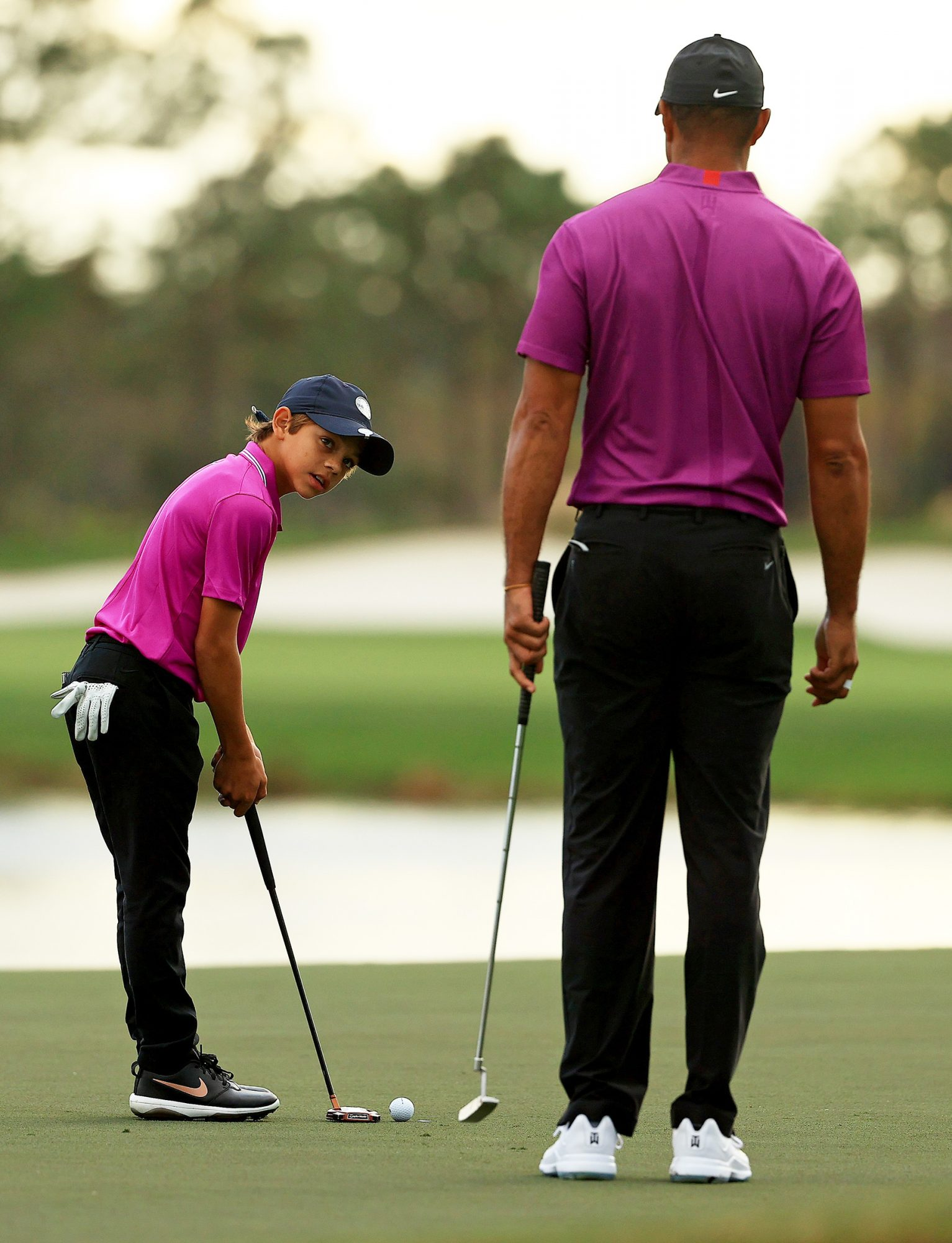 Tiger Woods and Charlie Woods - PCN Championship