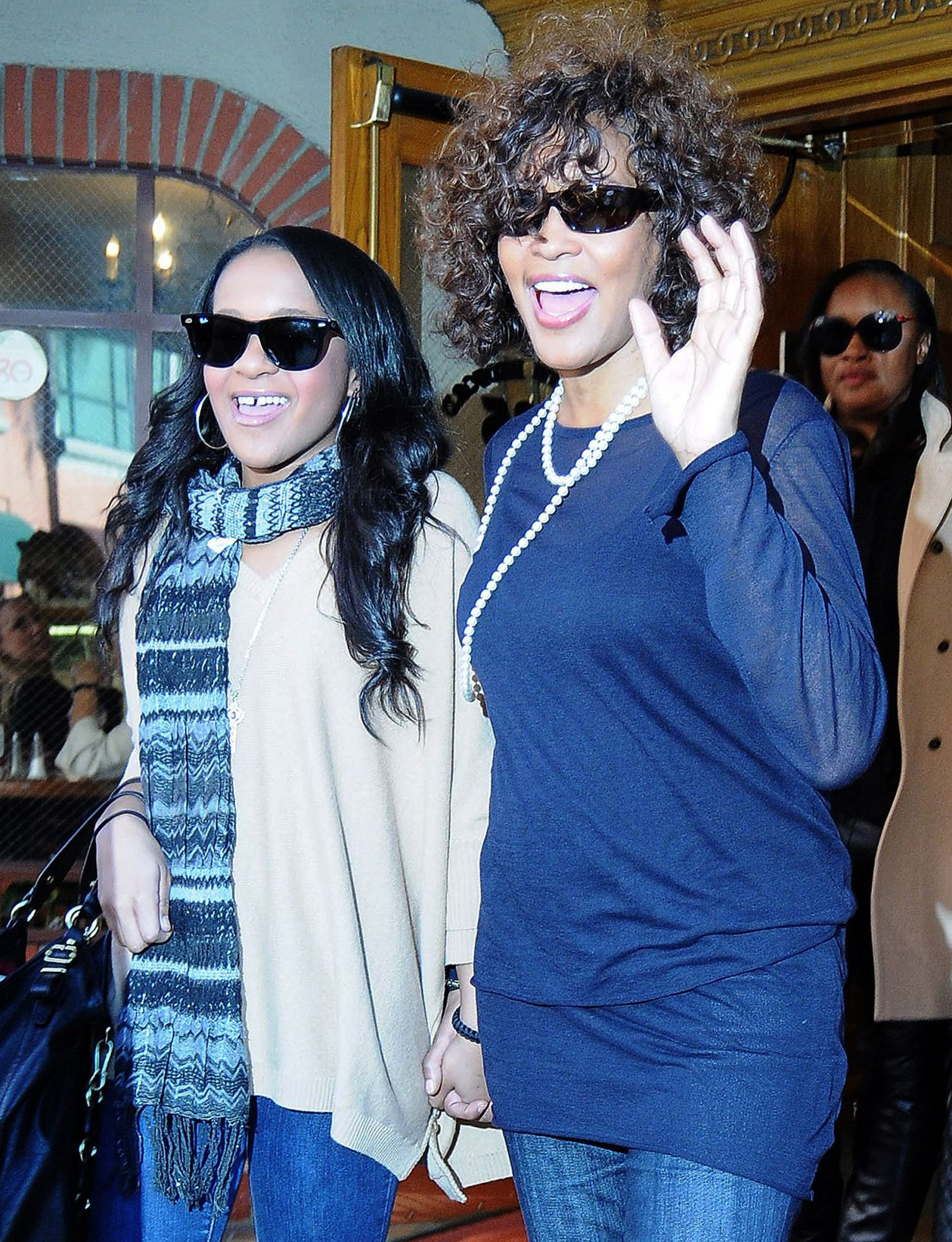 Whitney Houston and daughter Bobbi Kristina Brown leaving the Medical Building in Beverly Hills, Los Angeles, America - 09 Feb 2011