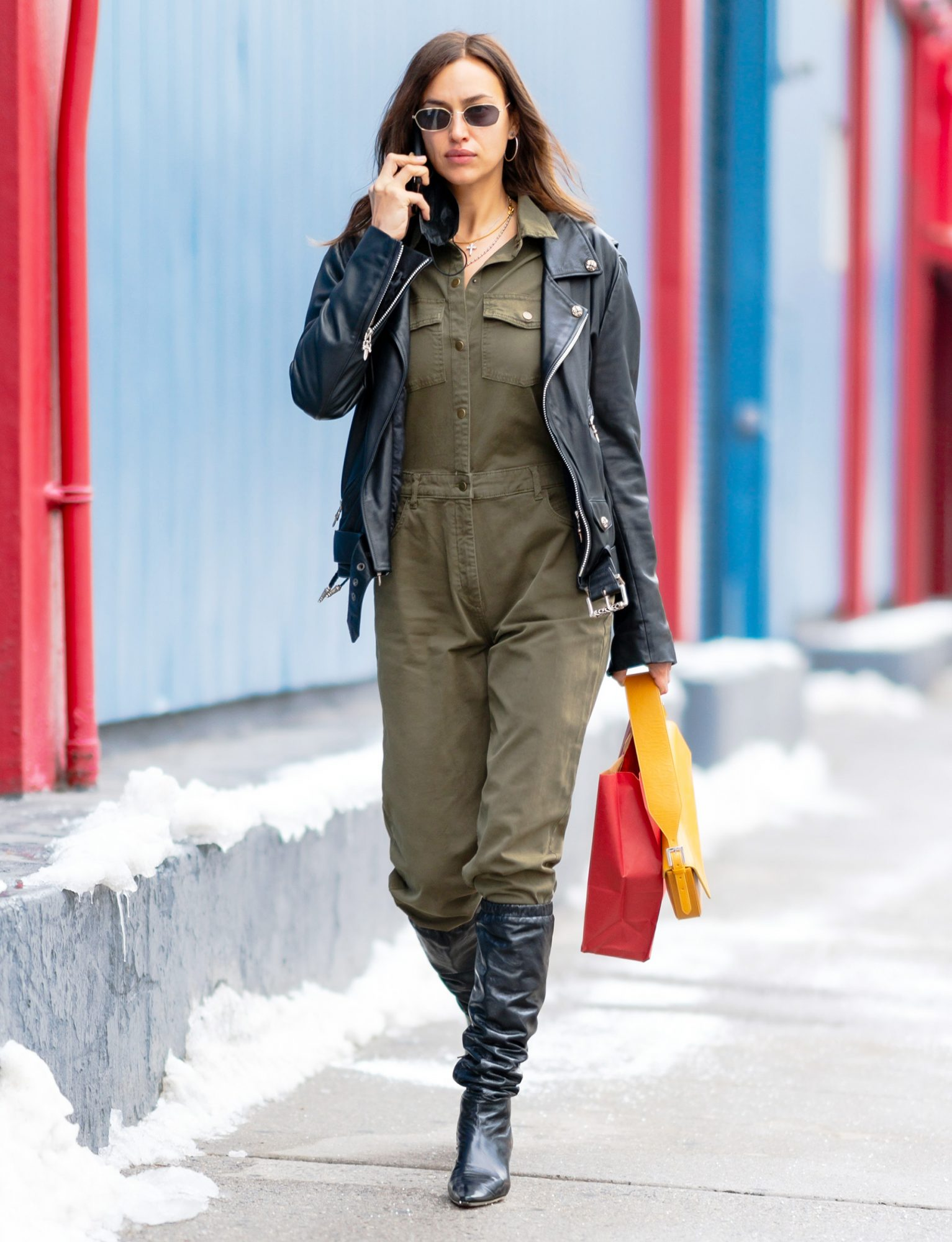 Irina Shayk is Pictured on a Stroll in New York City