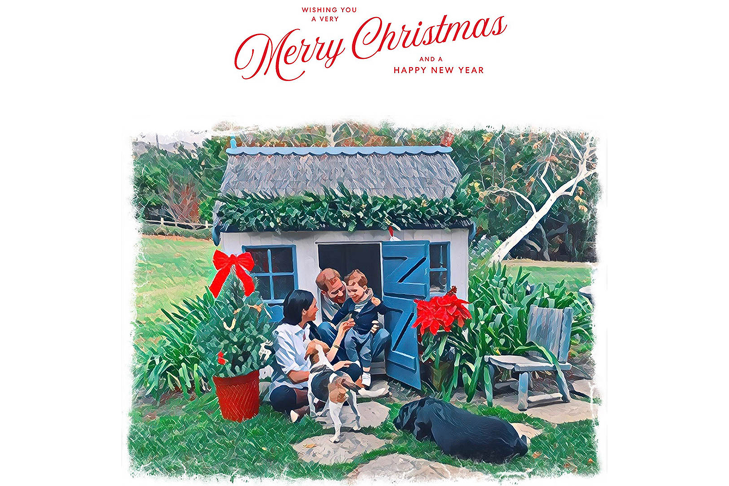 Meghan Harry Christmas card