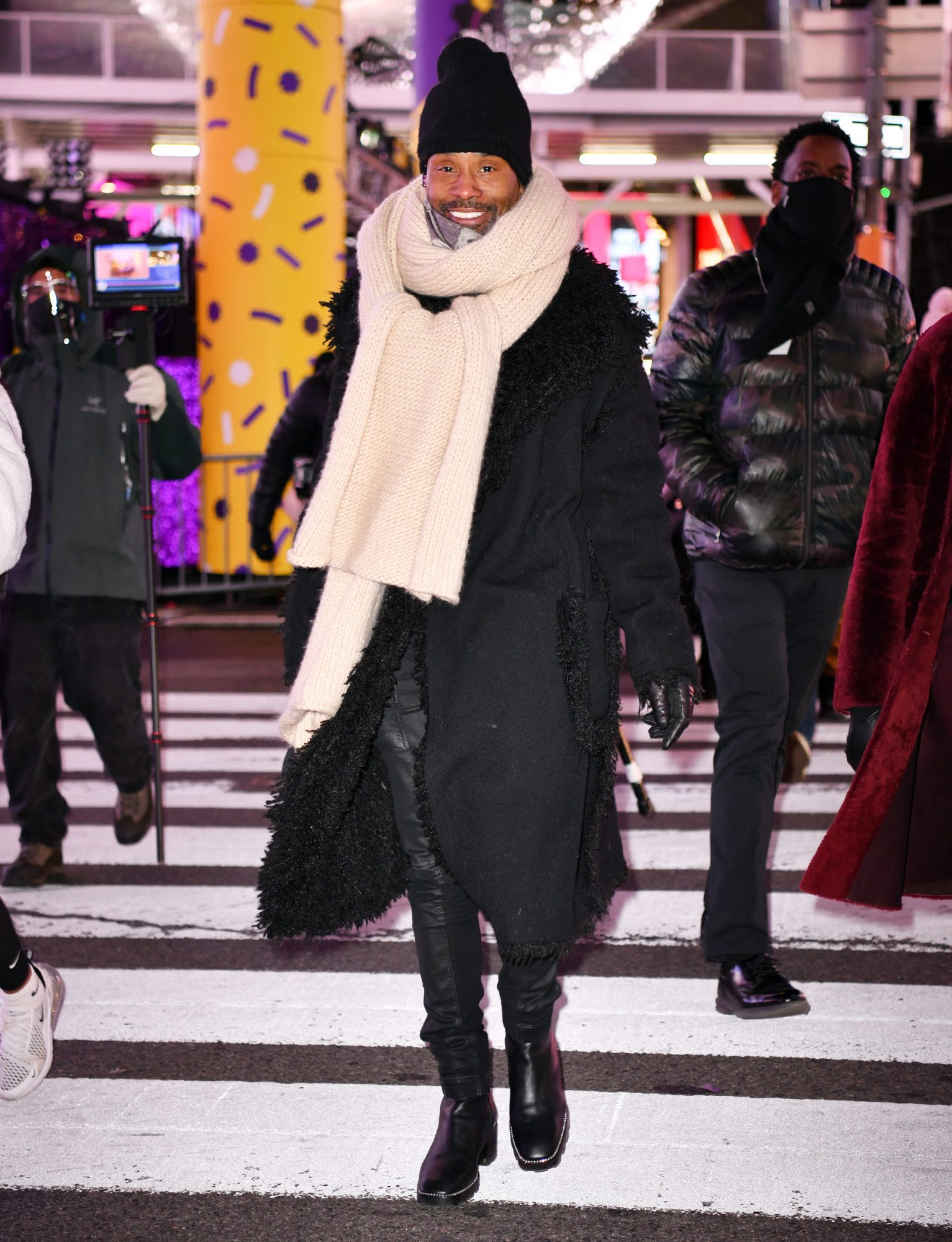 Billy Porter rehearses for New Year's Eve 2021 in Times Square on December 29, 2020 in New York City