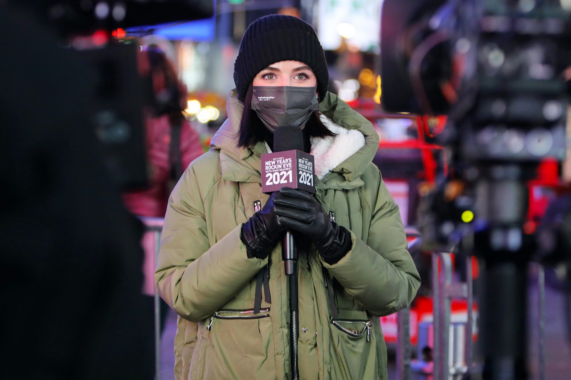 Lucy Hale is seen on December 30, 2020 in New York City