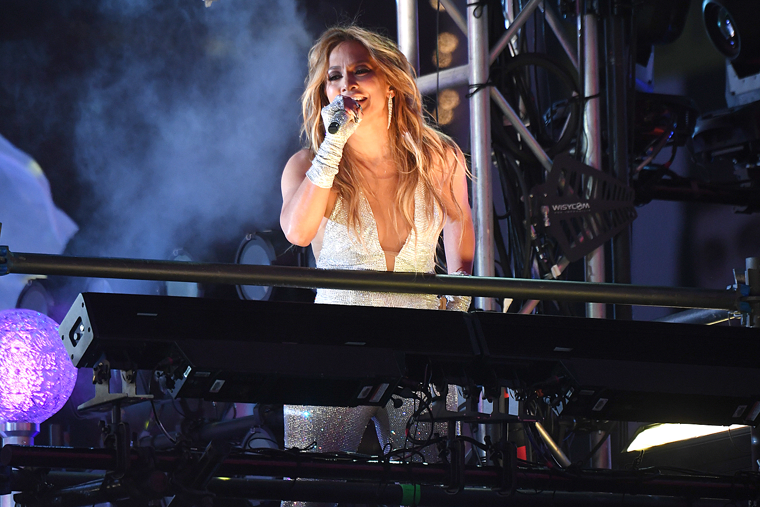 Jennifer Lopez performs live in Times Square during 2021 New Year's Eve celebrations