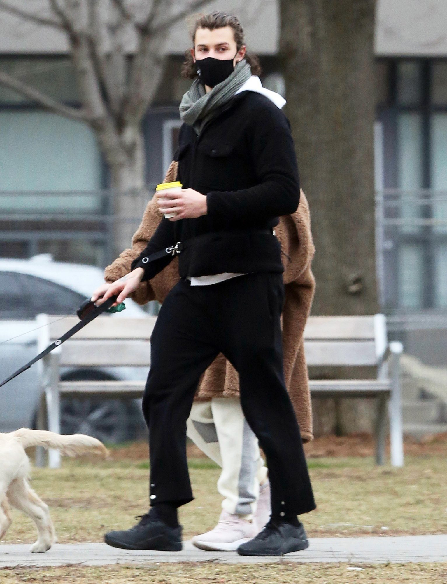 Shawn Mendes Walks His New Puppy, Tarzan Accompanied by His Sister, Aaliyah in Toronto