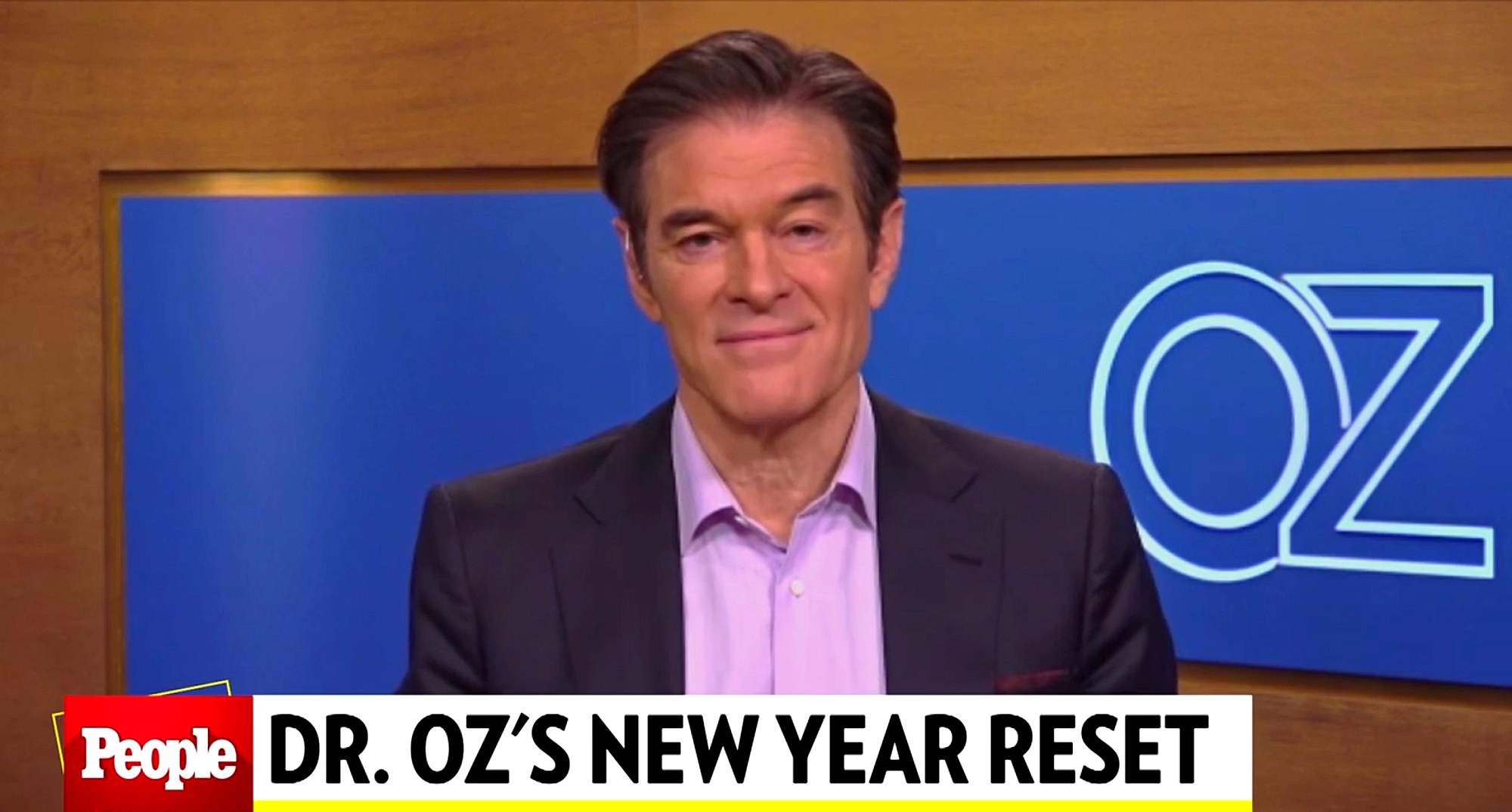 Dr. Oz give new year's resolutions advice on People The Tv Show