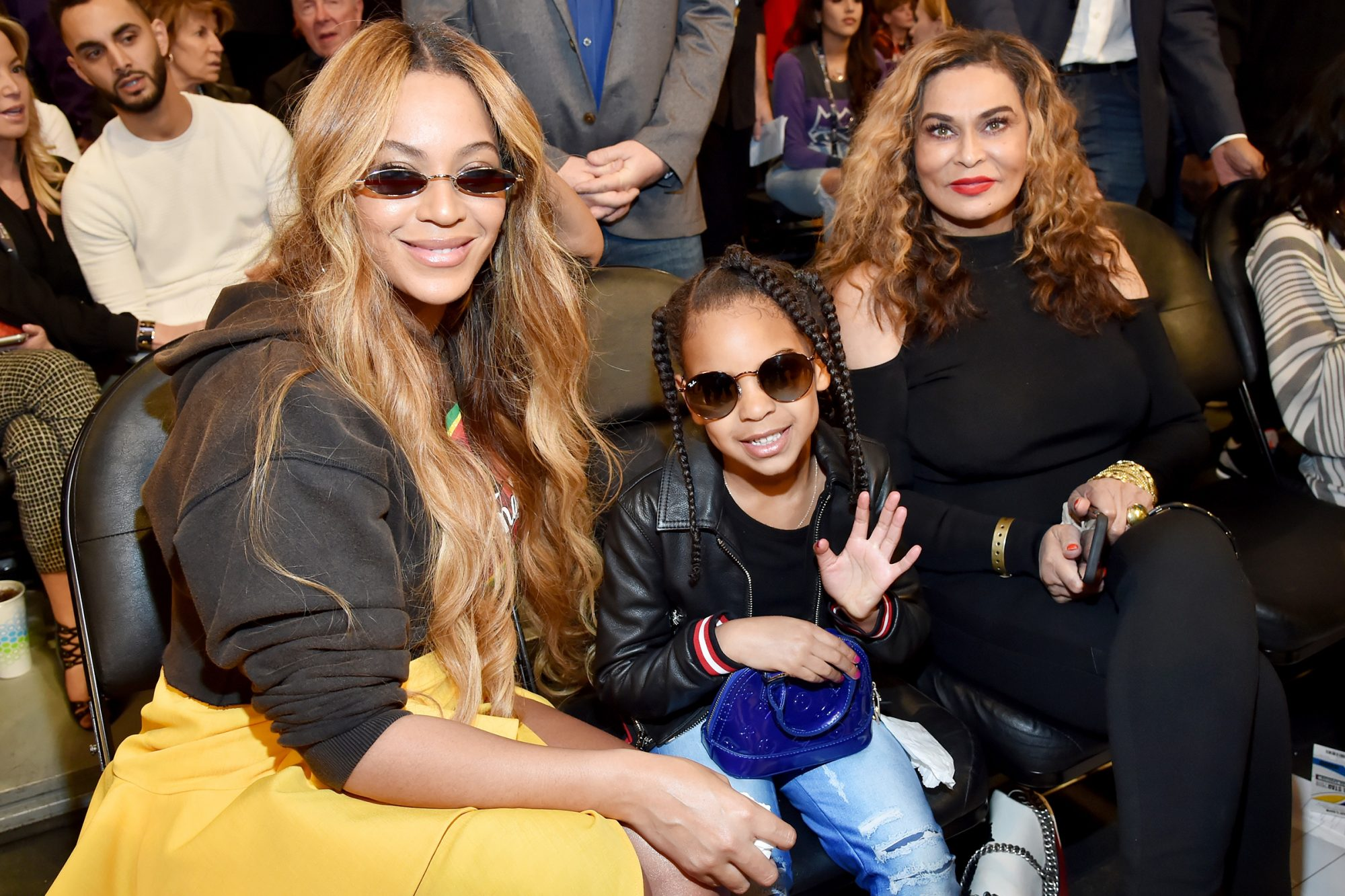 Beyonce, Blue Ivy Carter, and Tina Knowles
