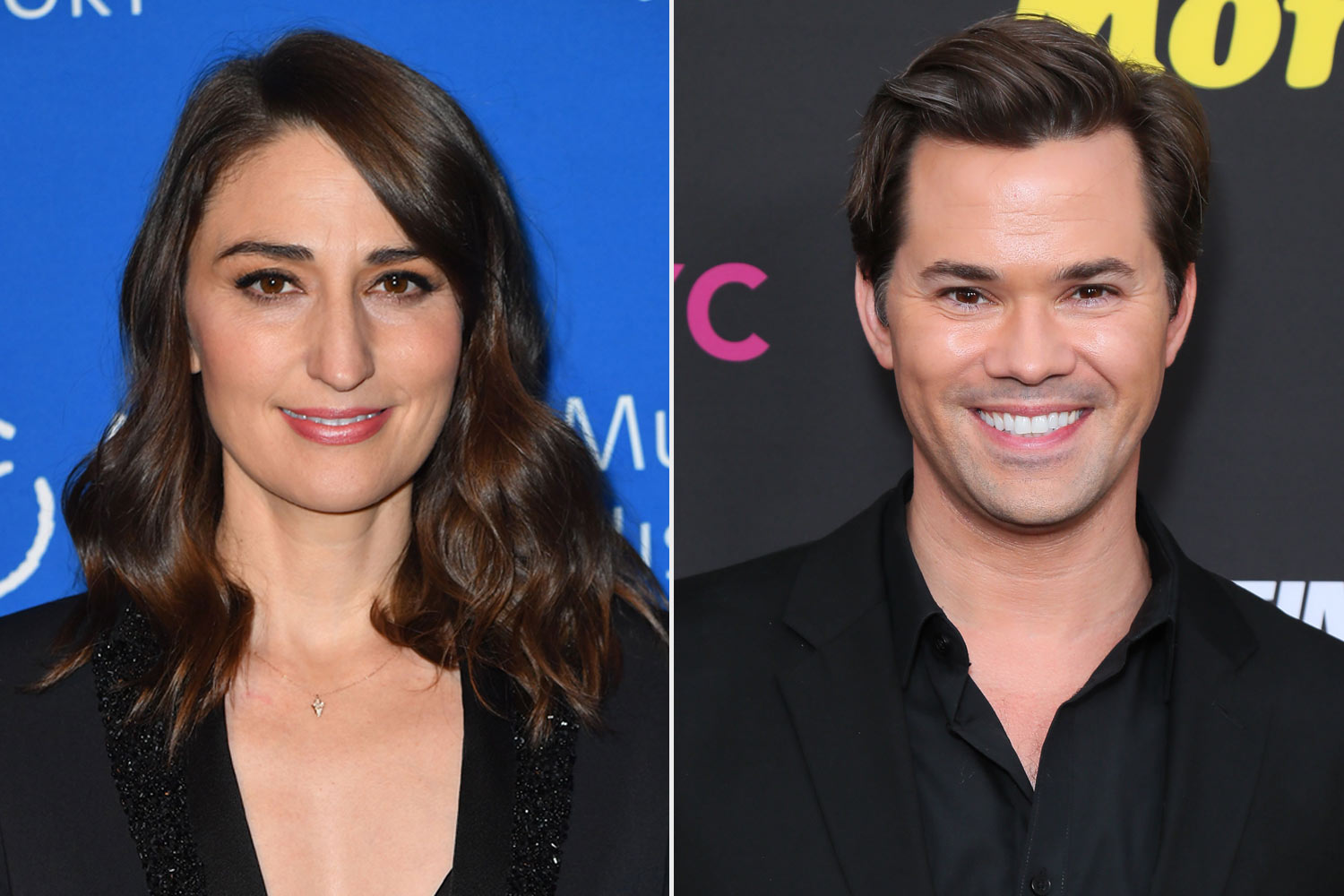 Sara Bareilles and Andrew Rannells